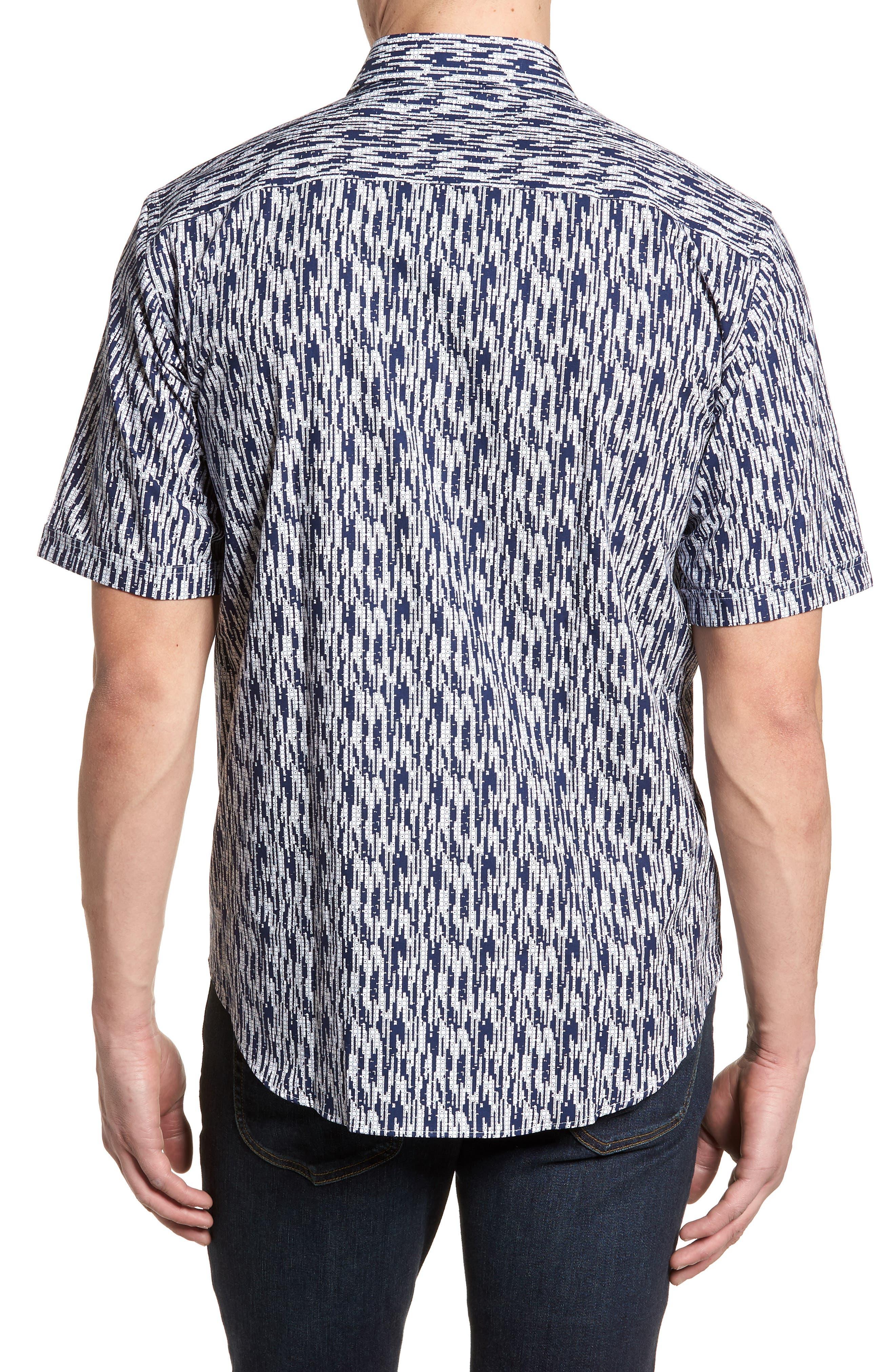 Classic Fit Dots Circles & Spaces Sport Shirt,                             Alternate thumbnail 2, color,                             Navy