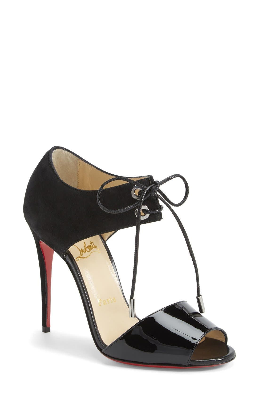 Alternate Image 1 Selected - Christian Louboutin Tie-Up Leather Sandal