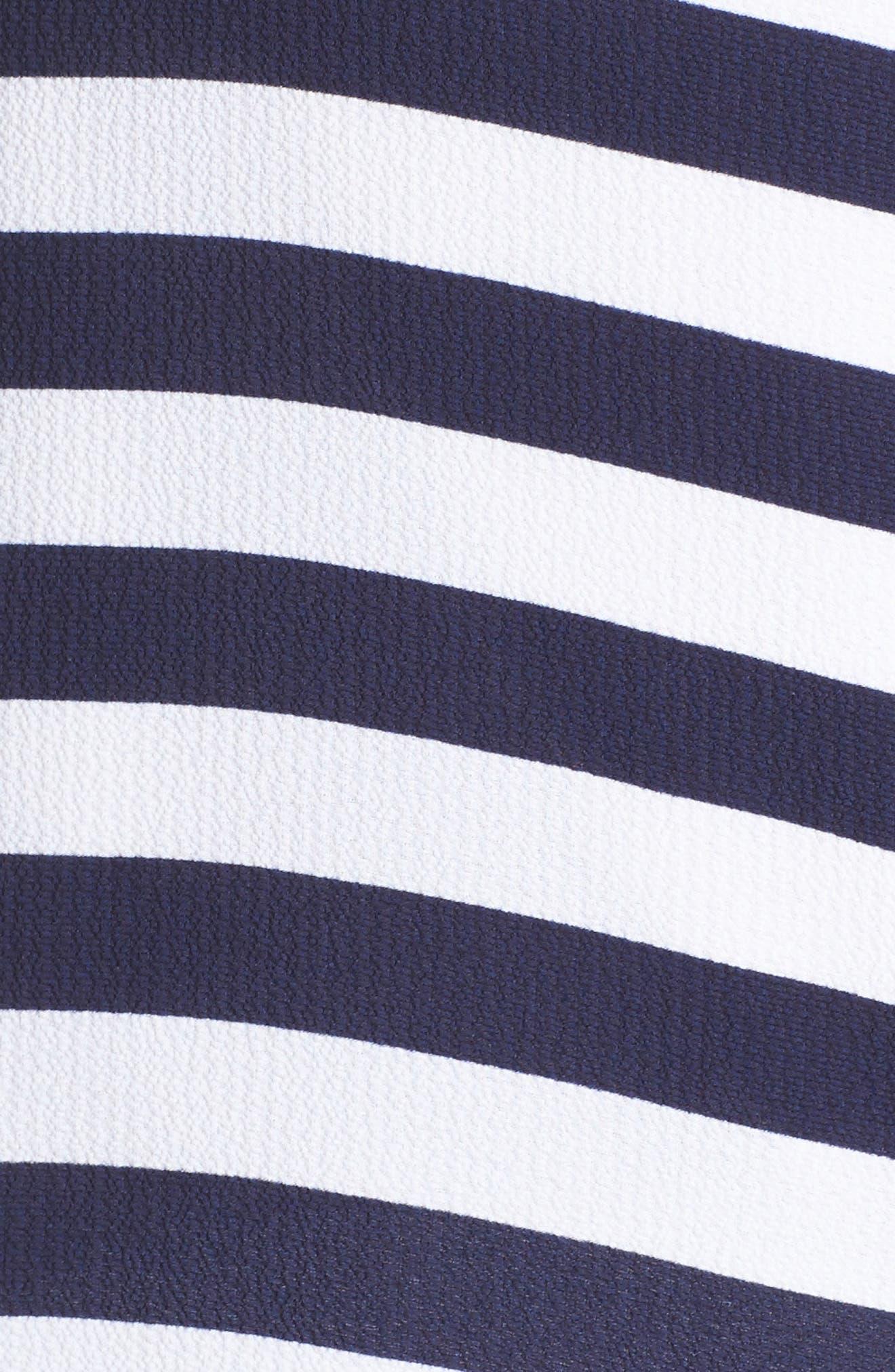 Stripe Side Tie Top,                             Alternate thumbnail 5, color,                             True Navy