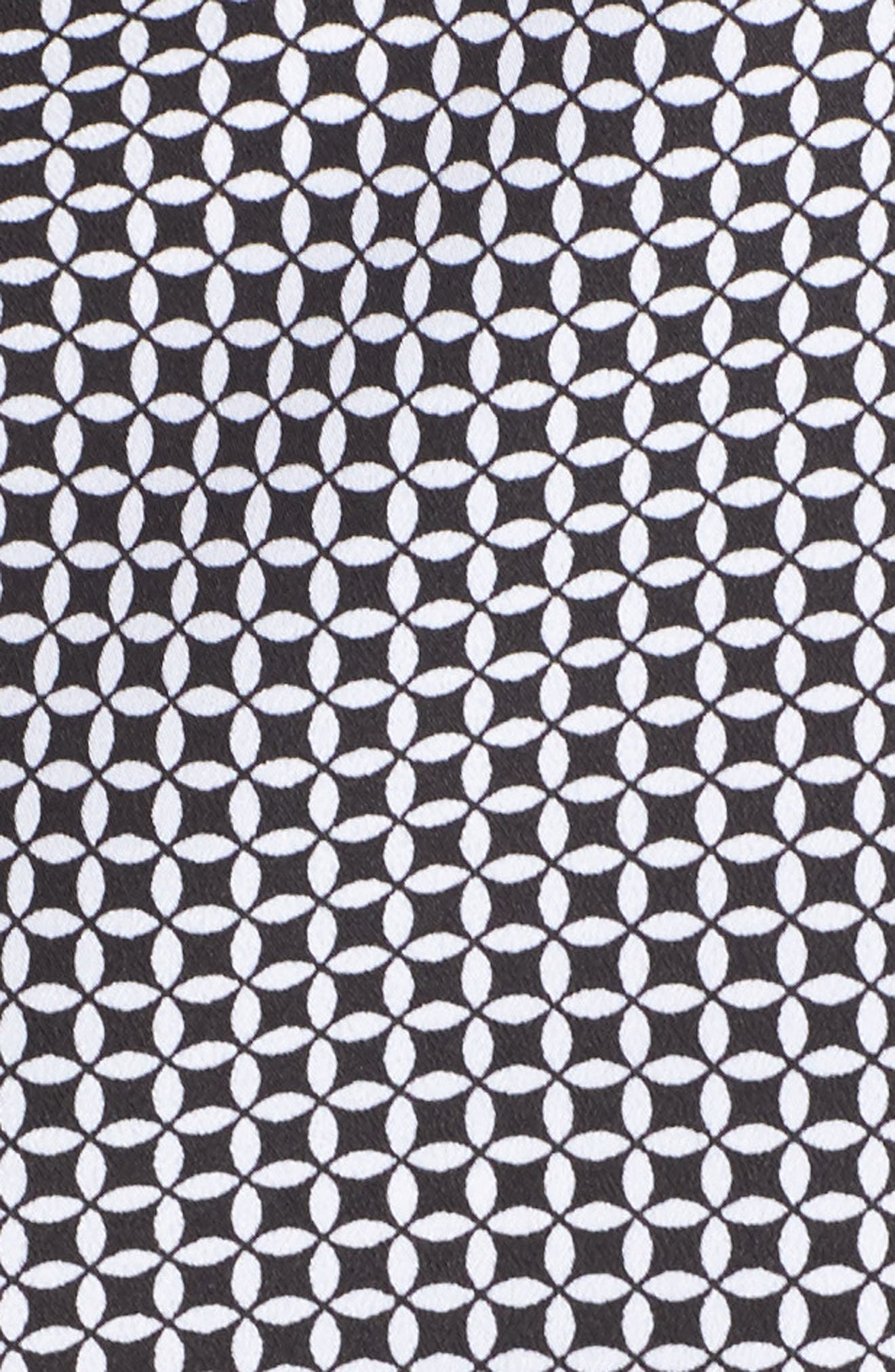 Geo Print Blouse,                             Alternate thumbnail 6, color,                             Black/ White