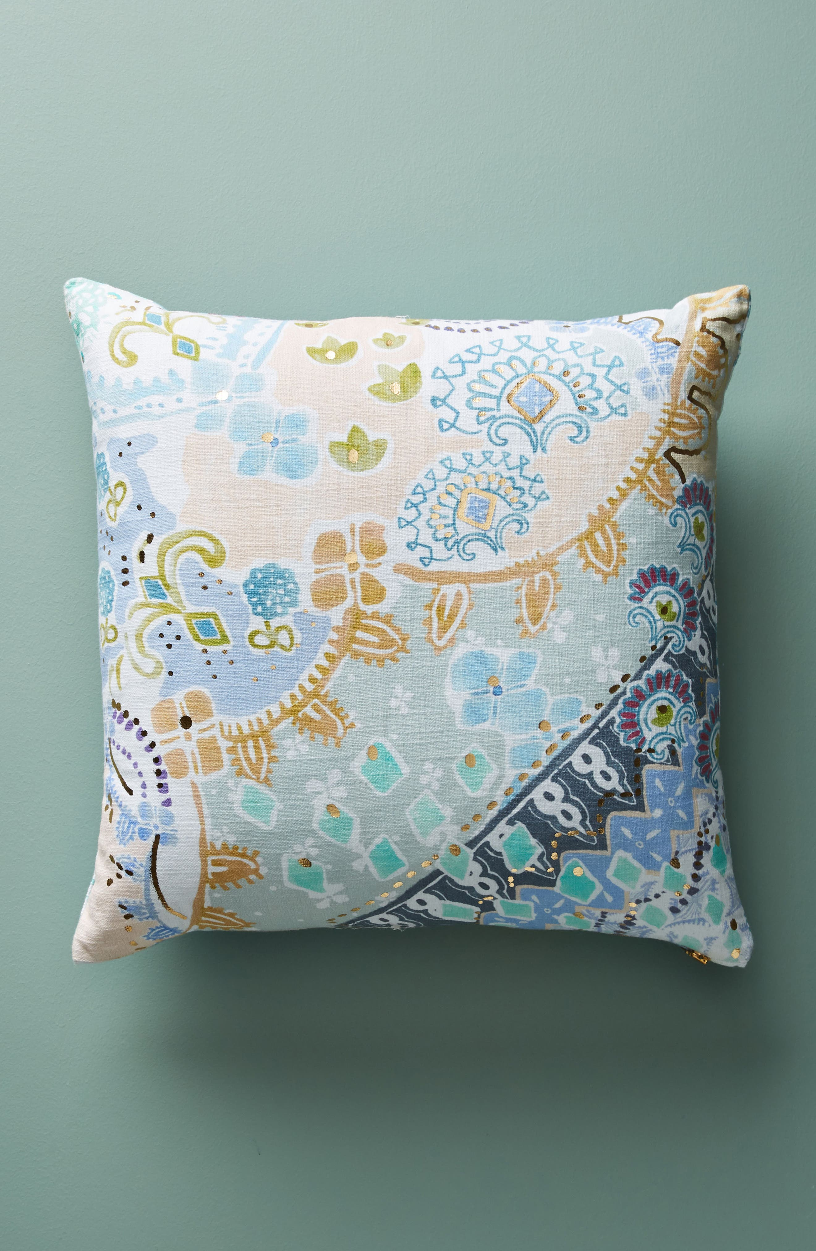 Clarence Accent Pillow,                             Main thumbnail 1, color,                             Blue Combo