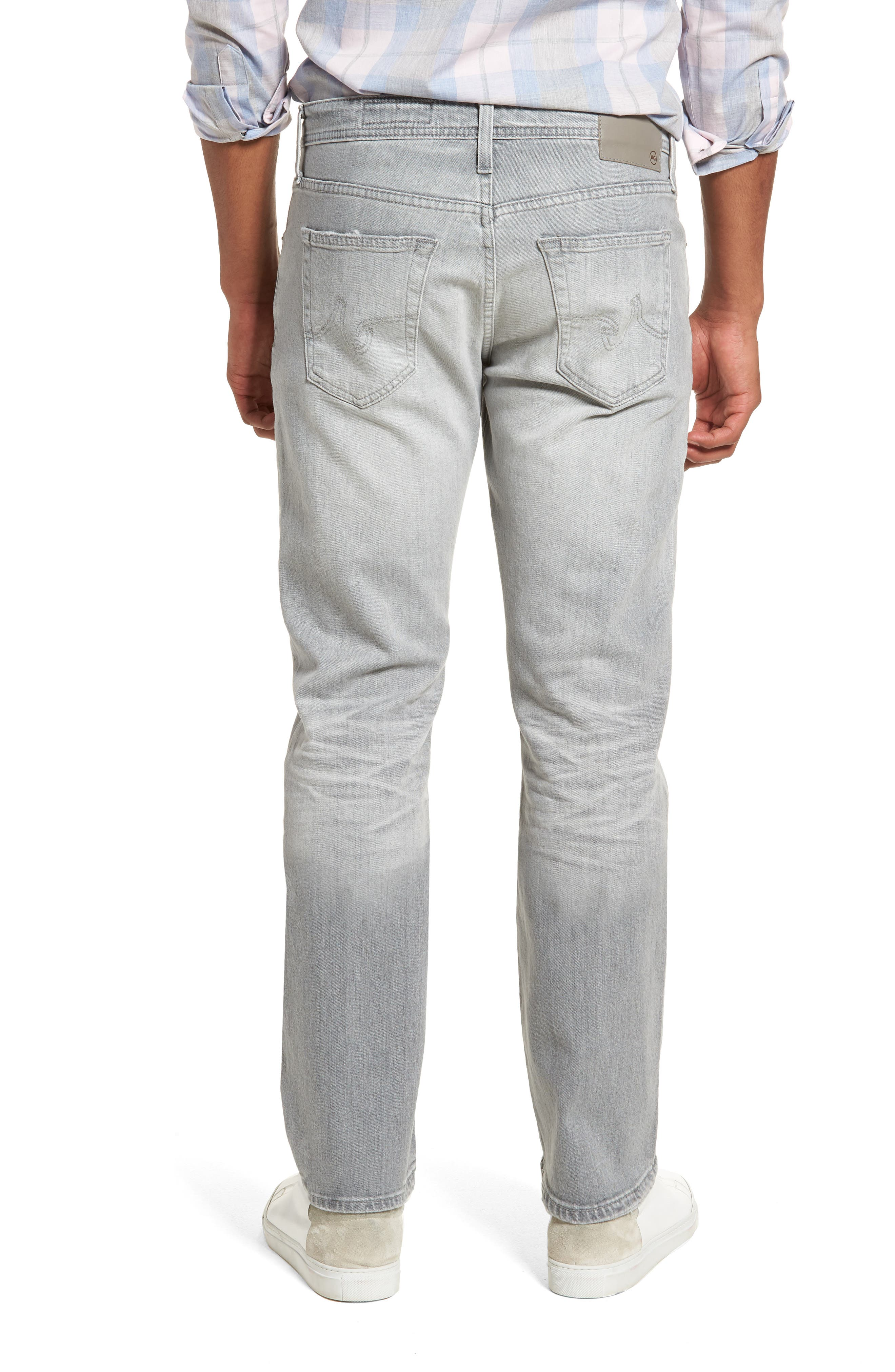 Graduate Slim Straight Leg Jeans,                             Alternate thumbnail 2, color,                             21 Years Outline