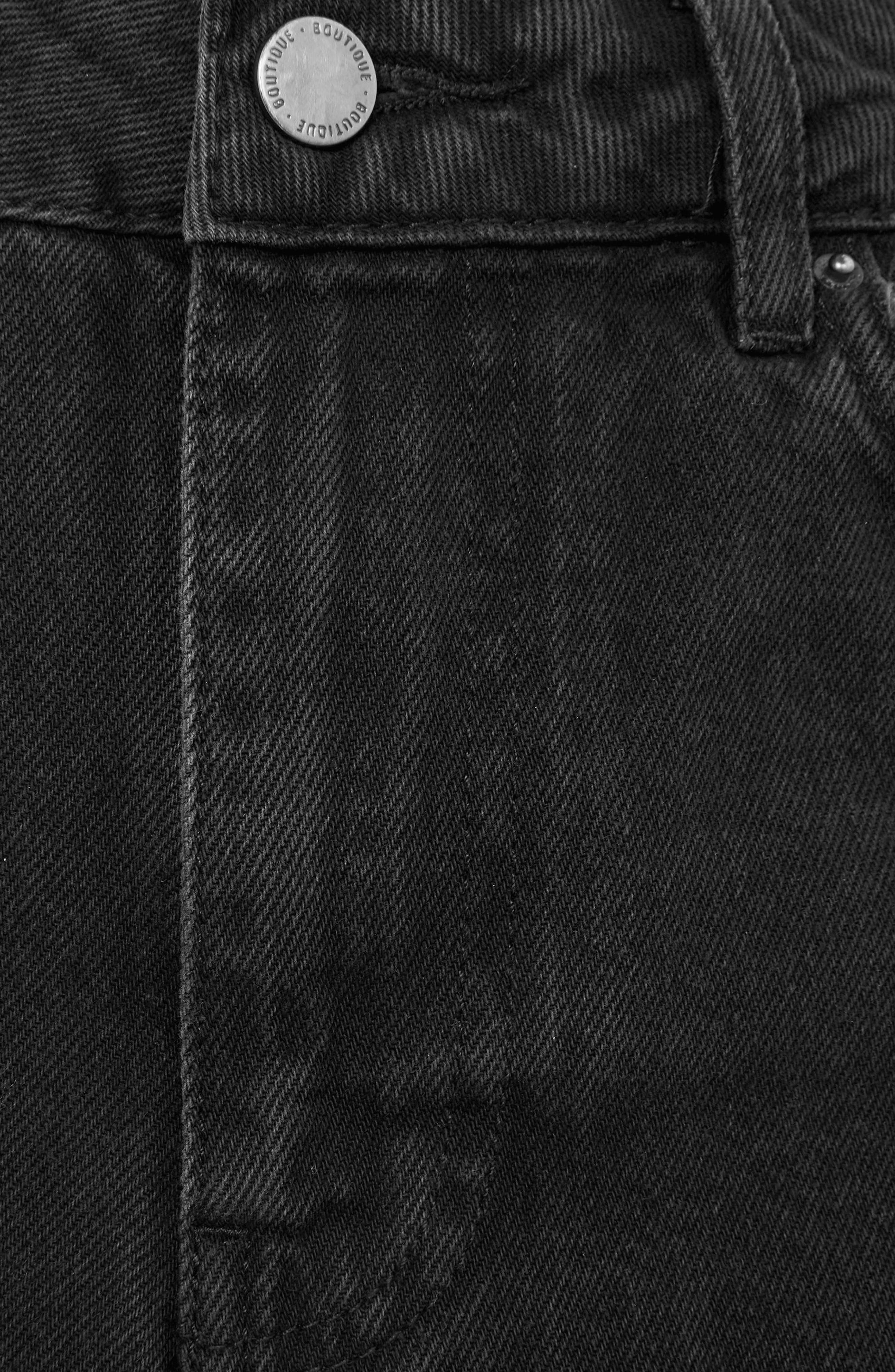 Distressed Jeans,                             Alternate thumbnail 3, color,                             Washed Black