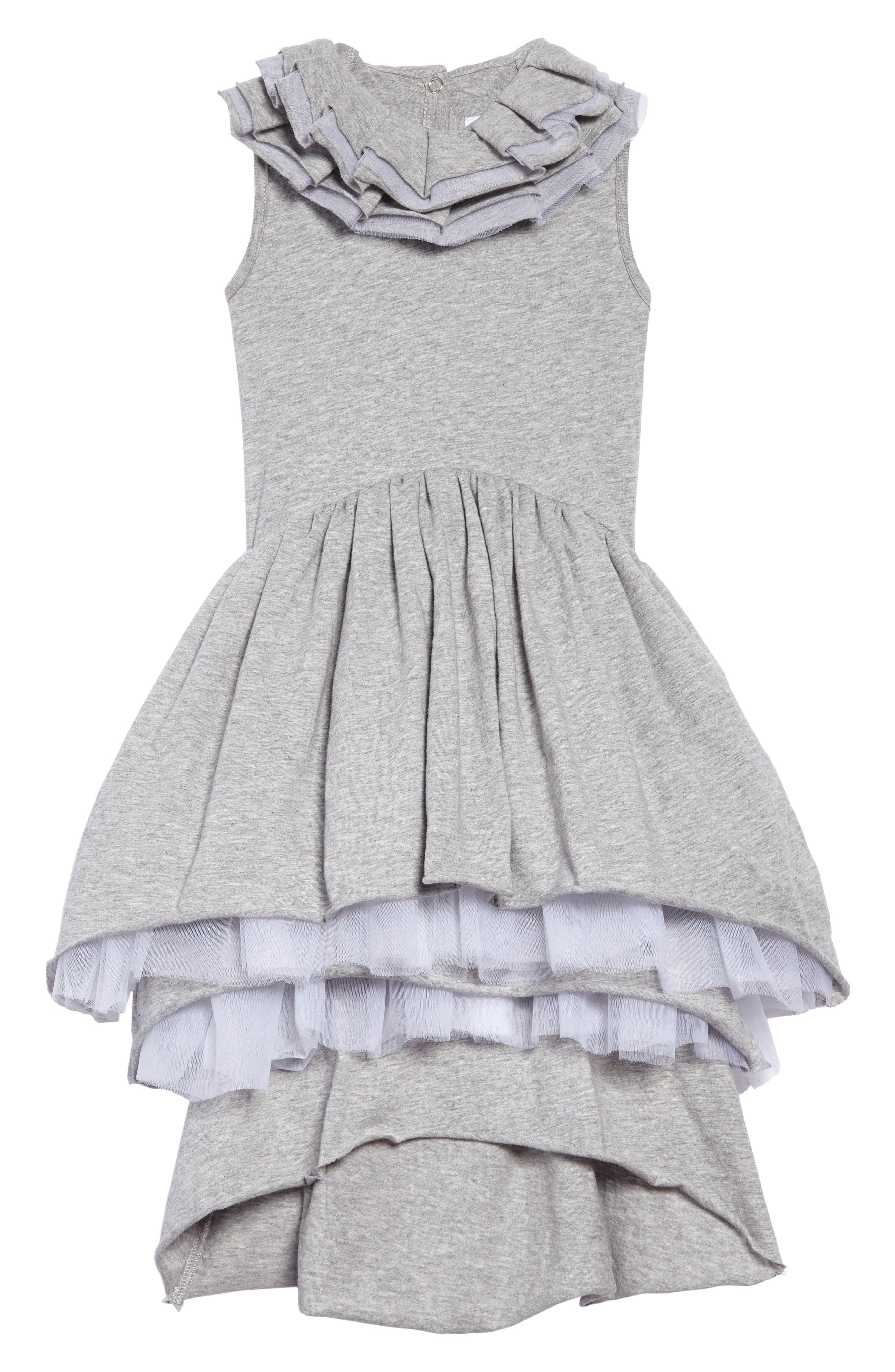 Main Image - Nununu Victorian Tulle Dress (Toddler Girls, Little Girls & Big Girls)