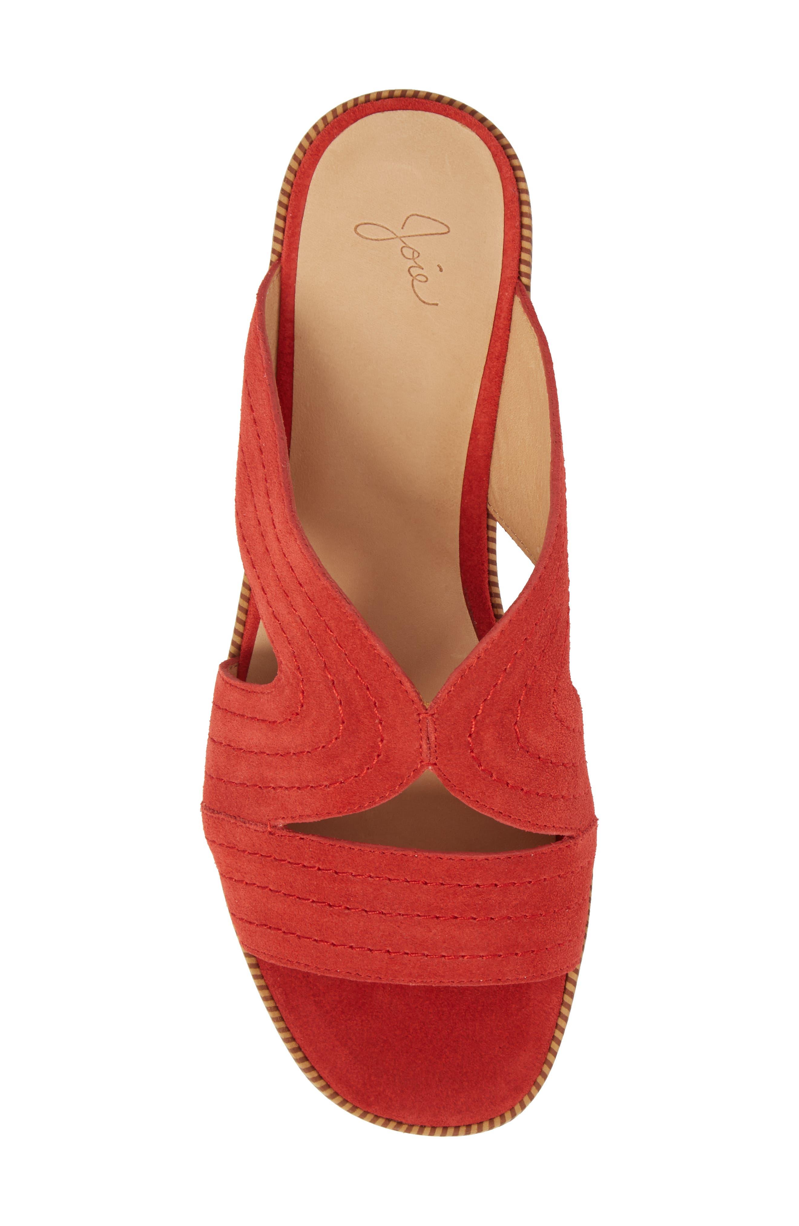 Paetyn Slide Sandal,                             Alternate thumbnail 5, color,                             Red