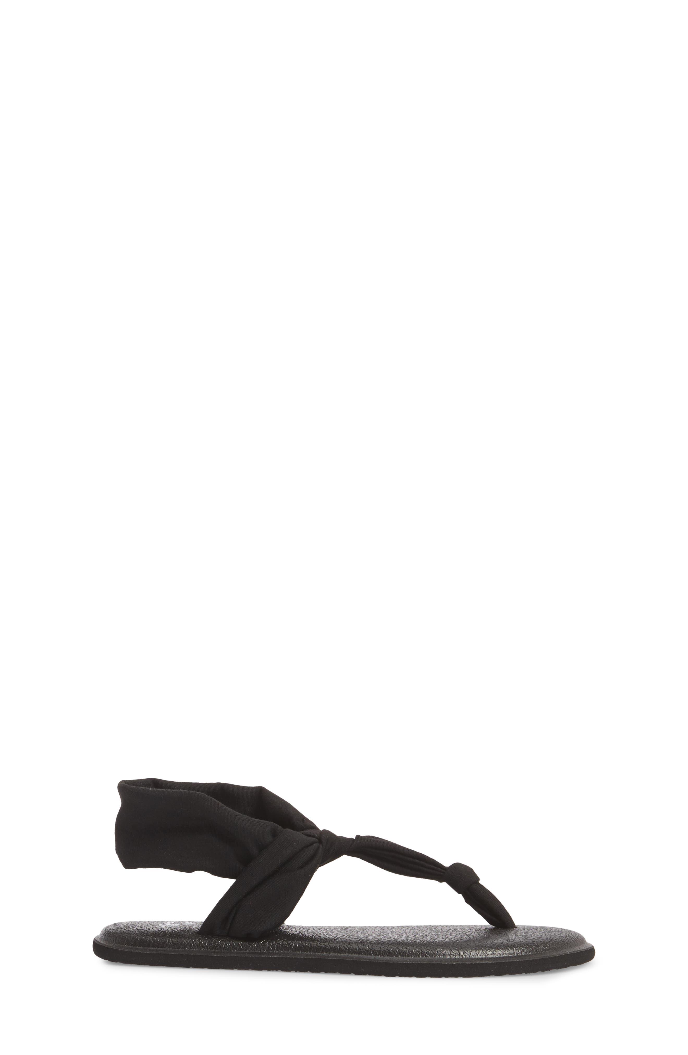 Yoga Sling Ella Sandal,                             Alternate thumbnail 3, color,                             Black
