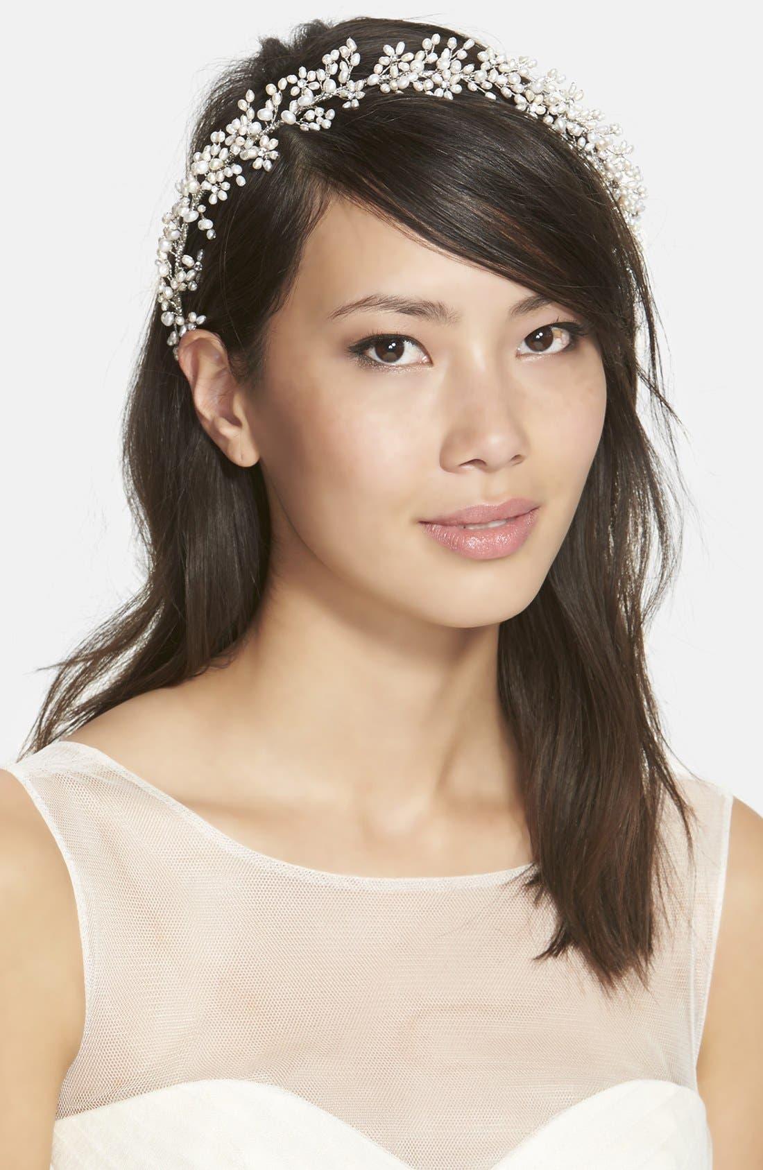 Alternate Image 1 Selected - twigs & honey 'Baby's Breath' Freshwater Pearl & Swarovski Crystal Headband