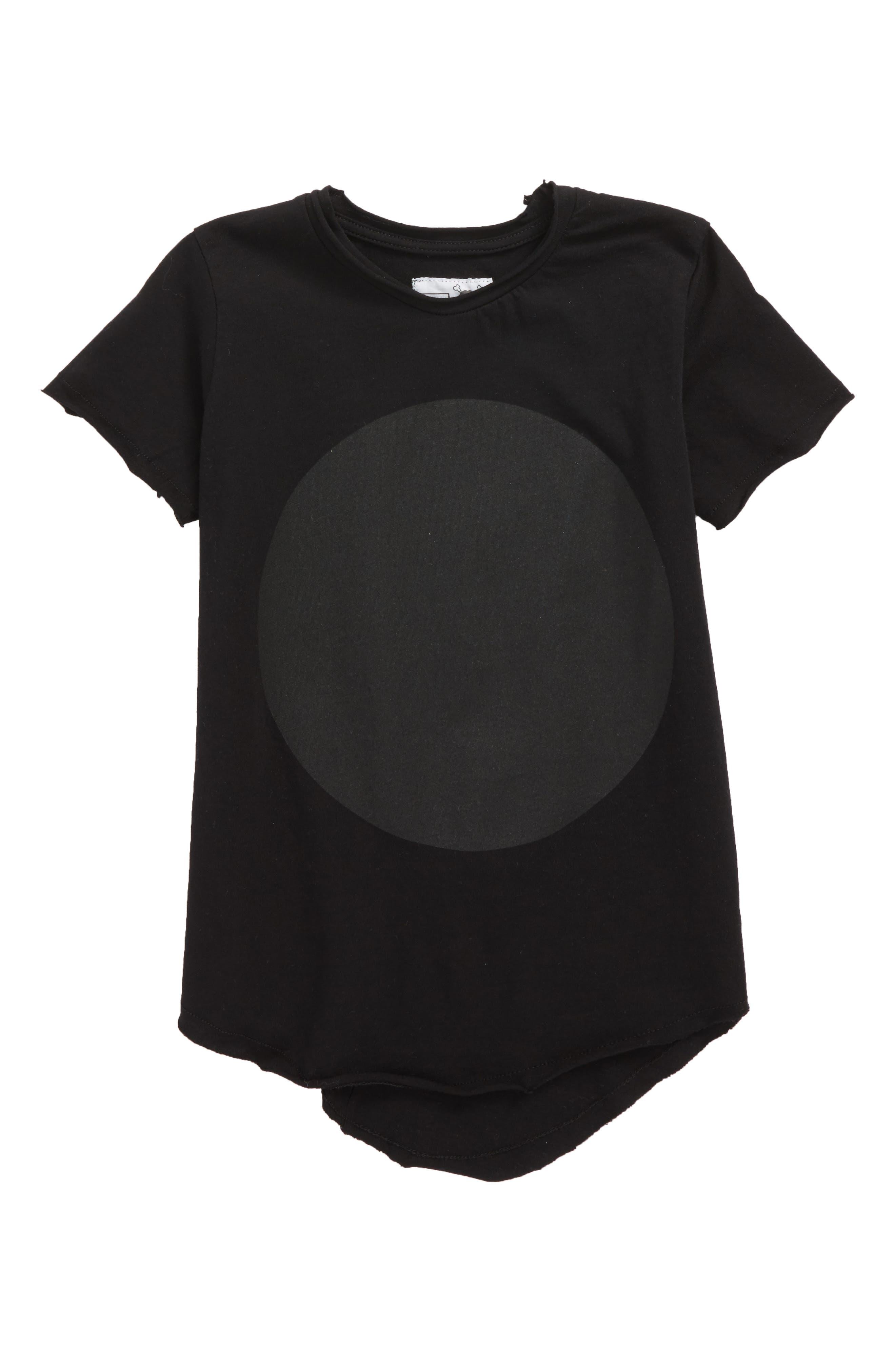 Circle Tee,                             Main thumbnail 1, color,                             Black