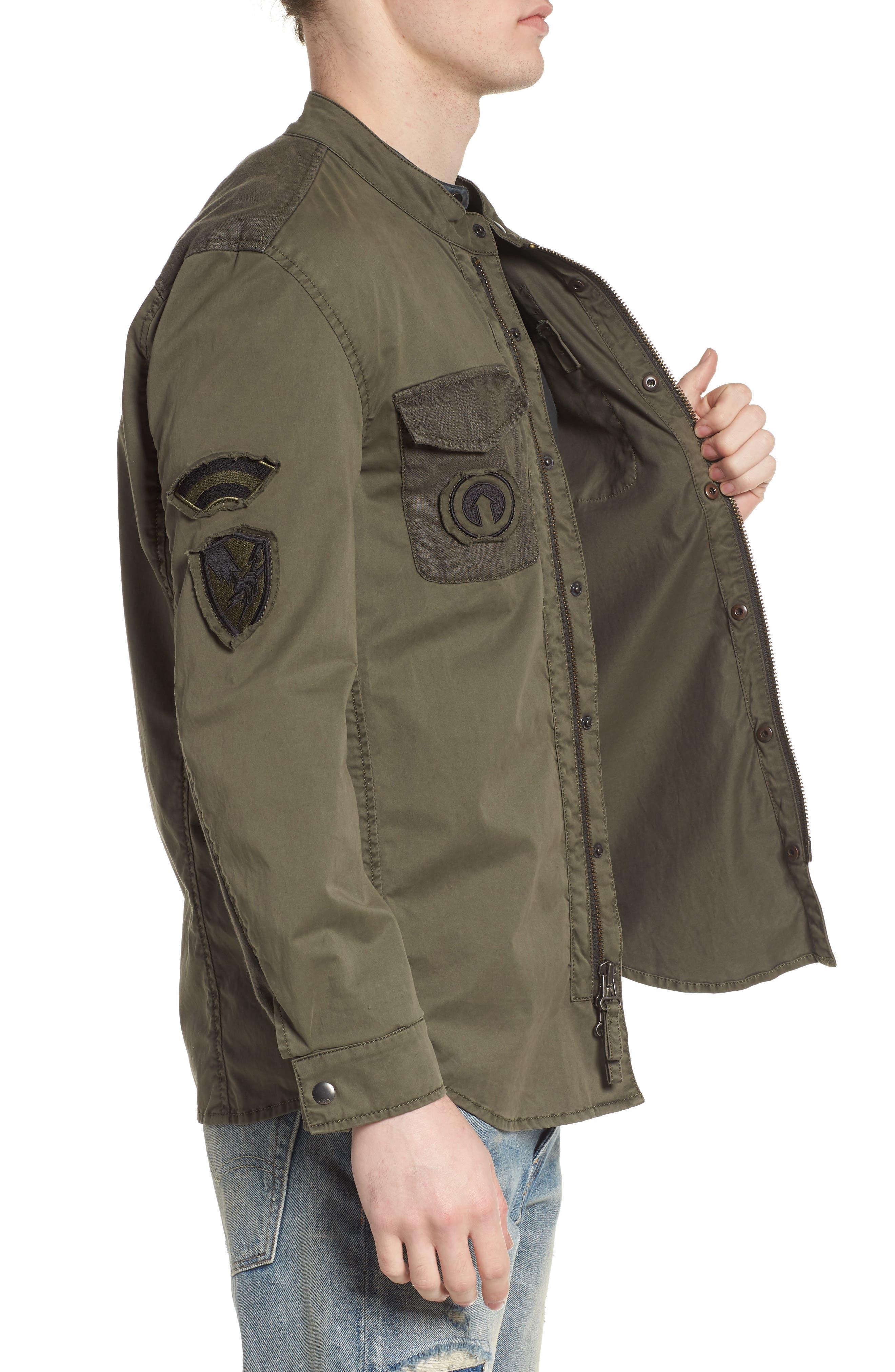Shirt Jacket,                             Alternate thumbnail 3, color,                             Olive