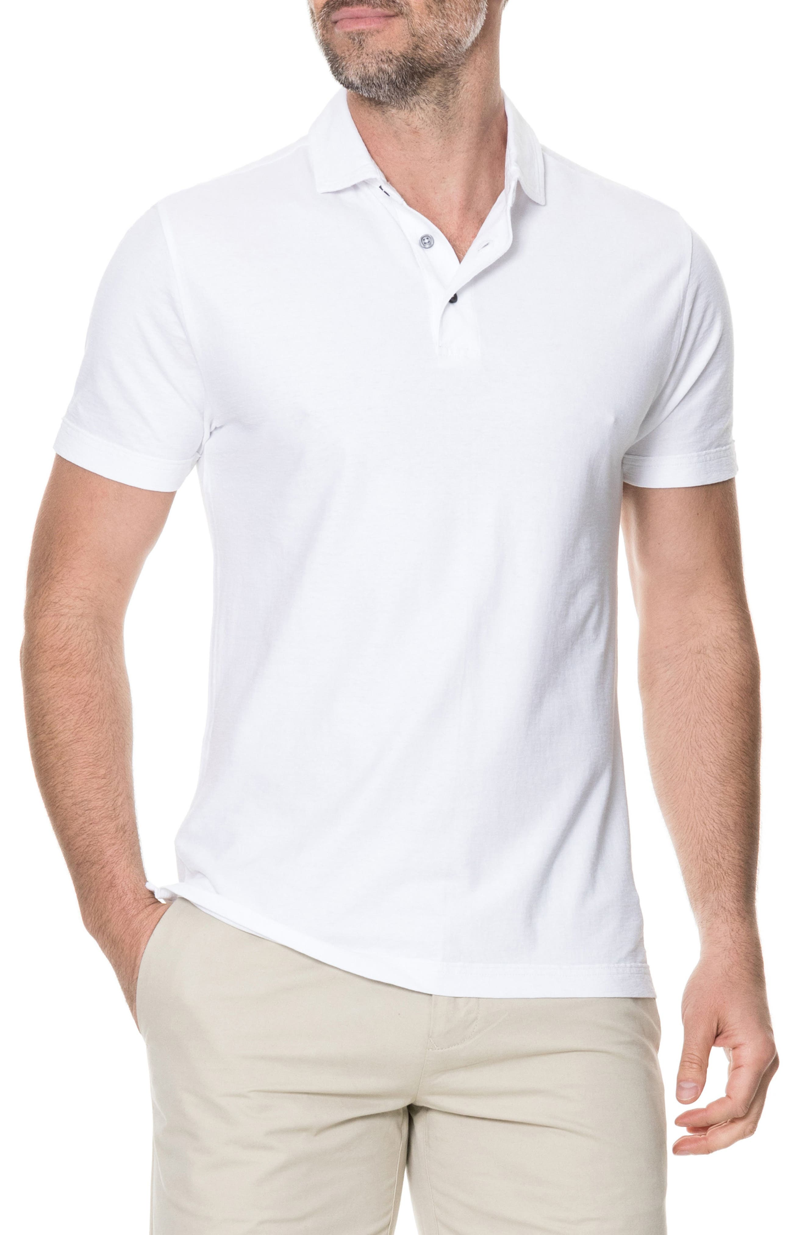 Wilsons Bay Sports Fit Polo,                         Main,                         color, Snow
