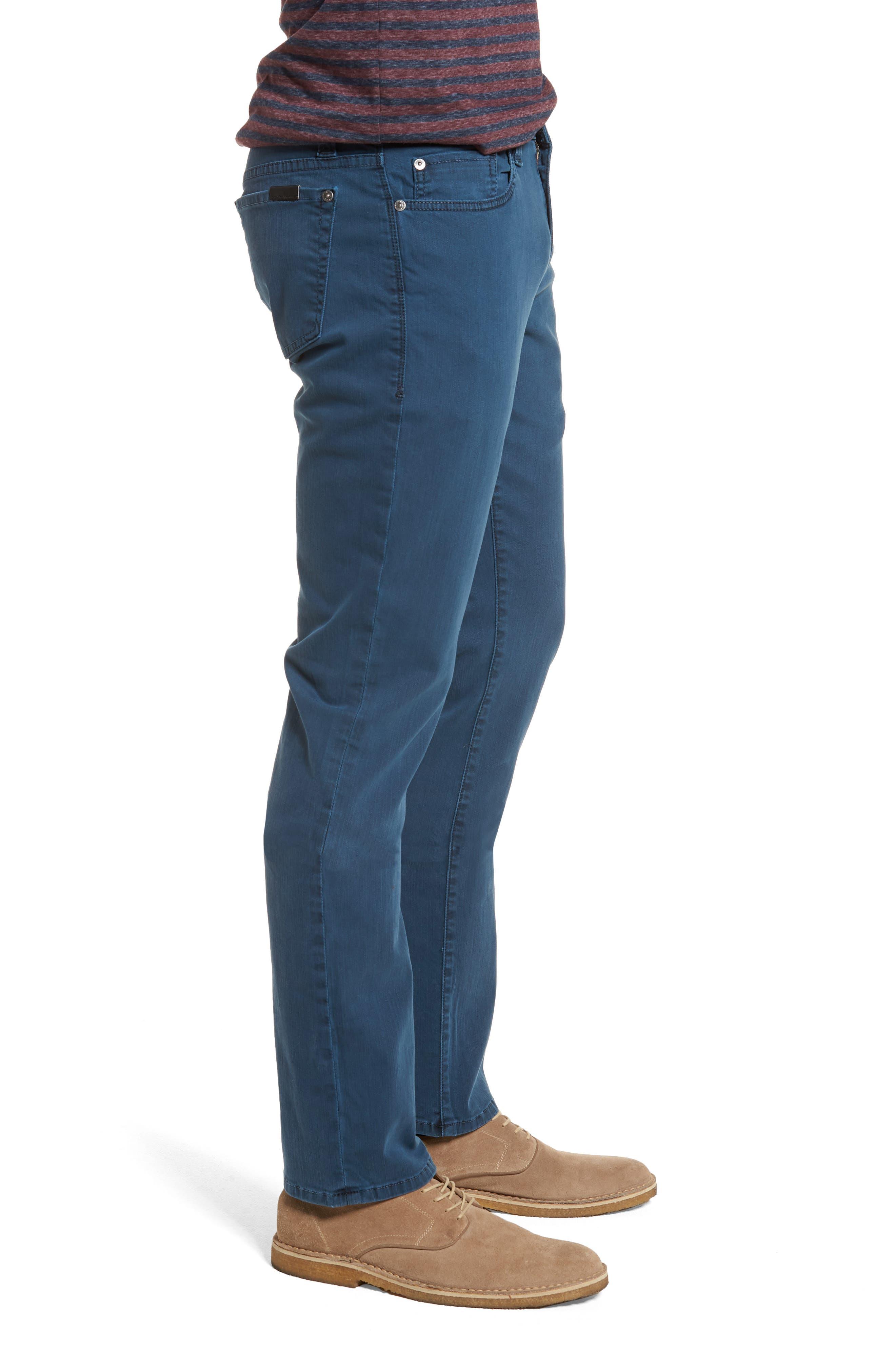 Jimmy Slim Straight Leg Jeans,                             Alternate thumbnail 3, color,                             Marina Blue