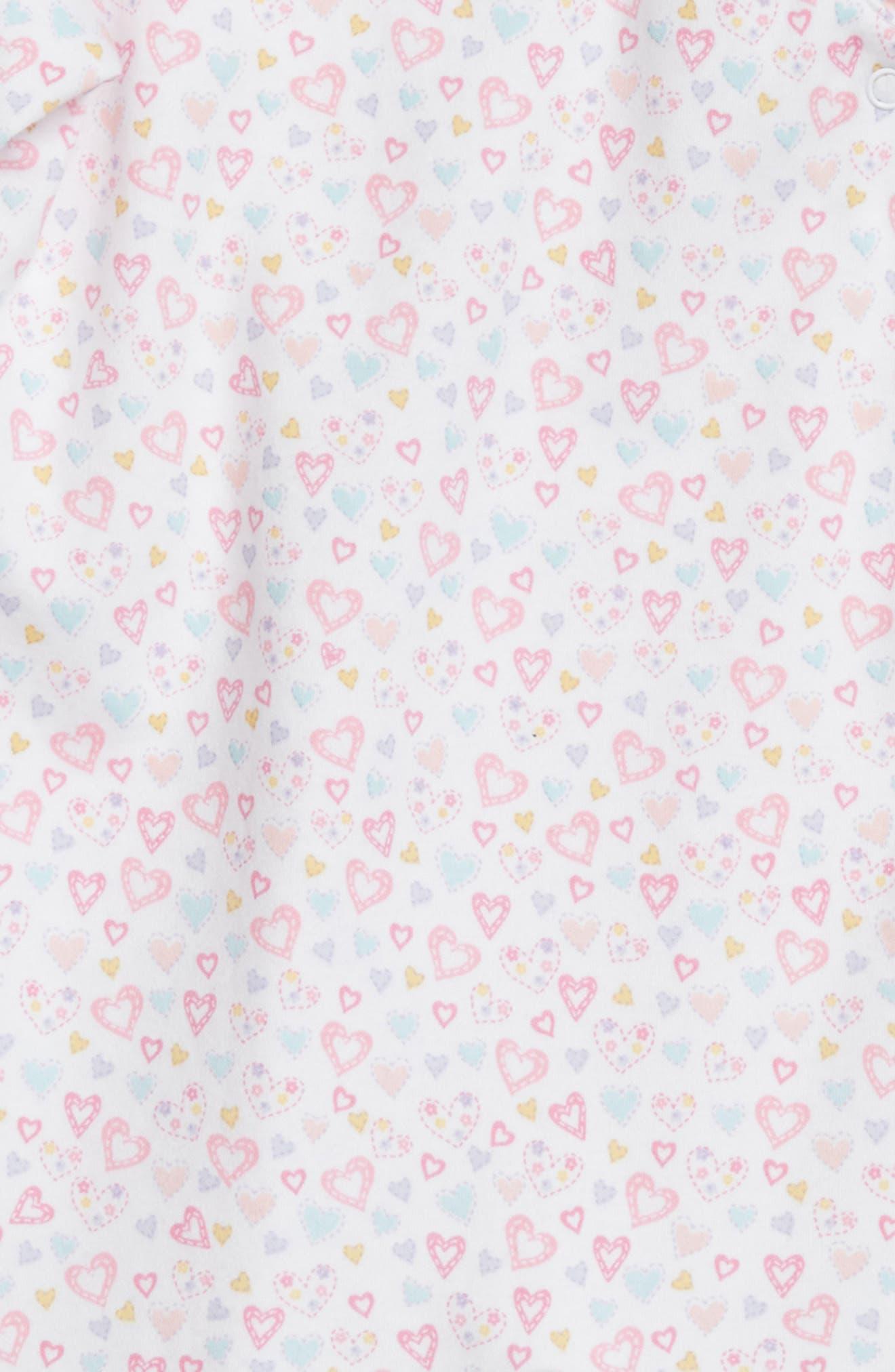 Dina Heart Darling Ruffle Footie,                             Alternate thumbnail 2, color,                             Dina Darling