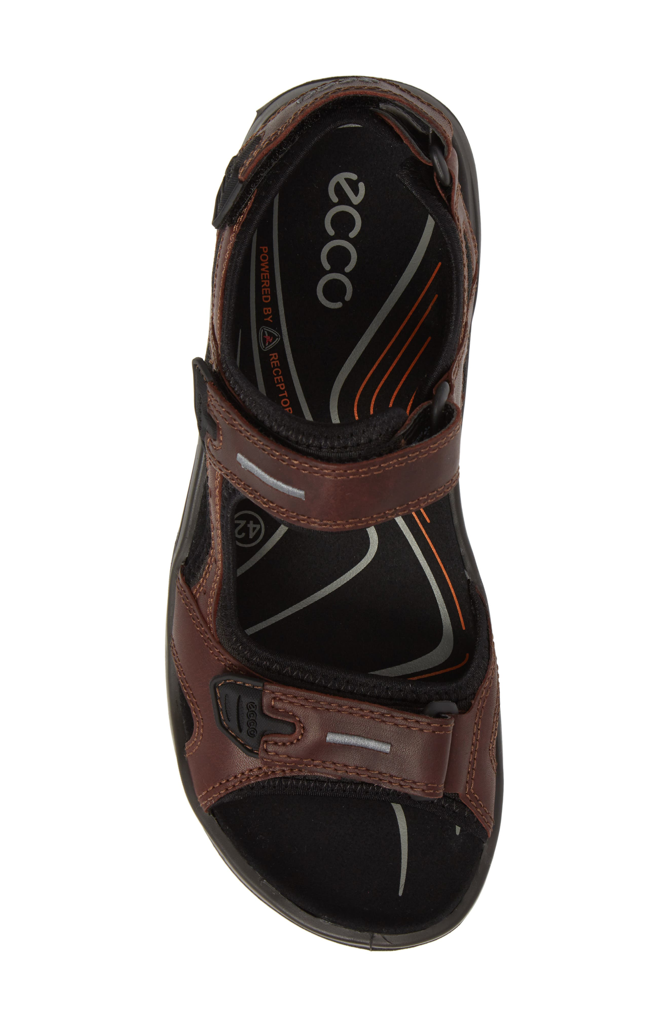 Offroad Sport Sandal,                             Alternate thumbnail 5, color,                             Brandy Leather