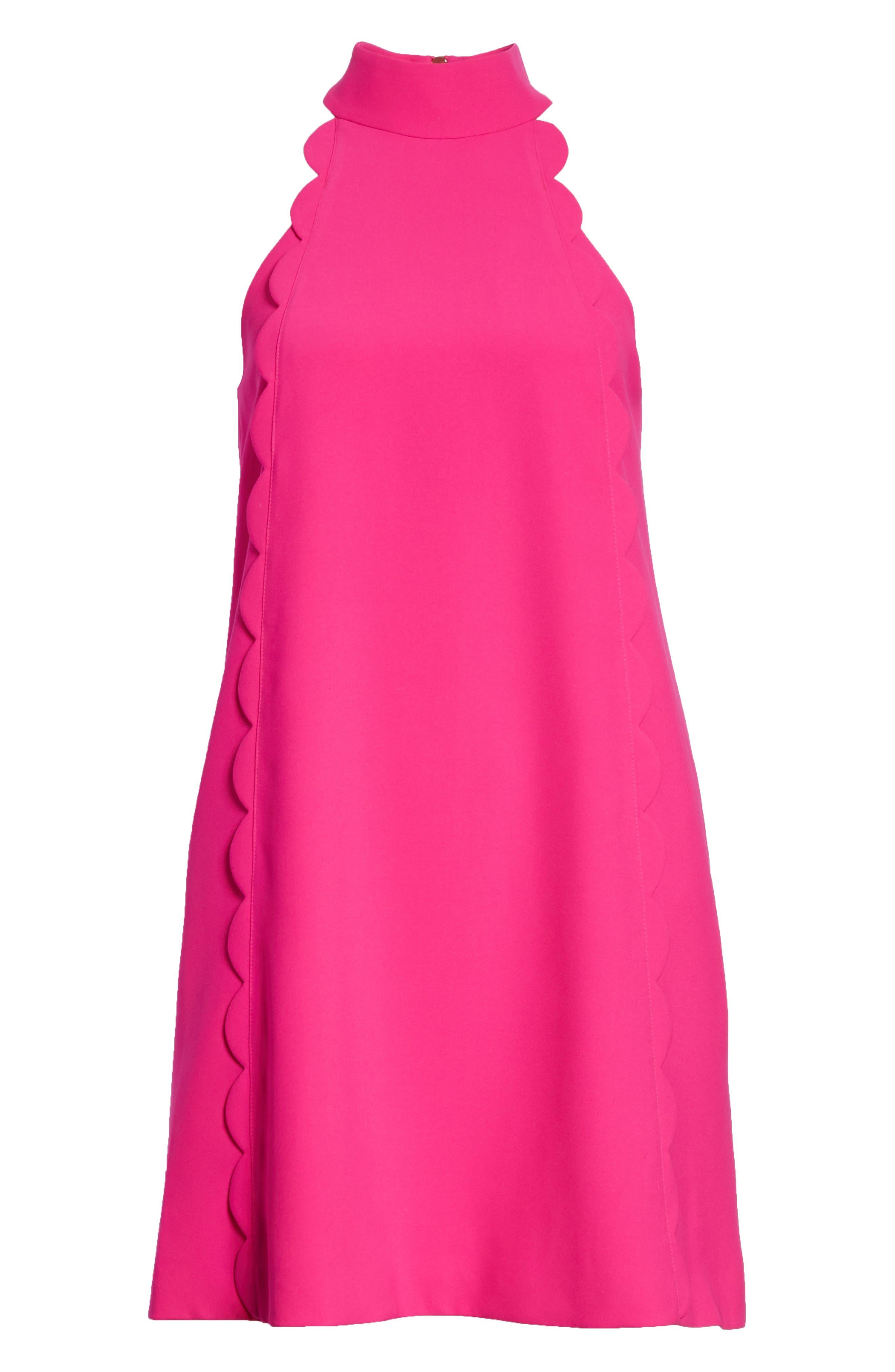Torrii High Neck Tunic Dress,                             Alternate thumbnail 6, color,                             Bright Pink