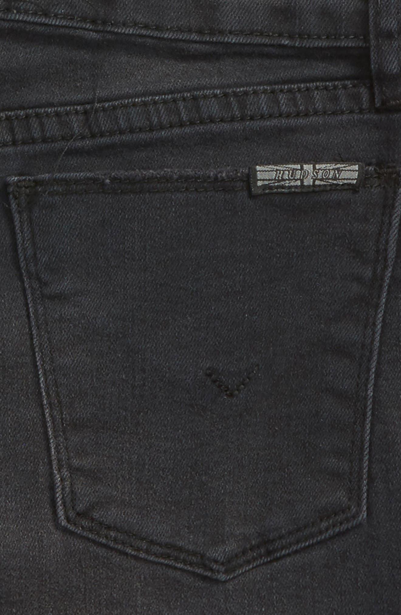 Vintage High Waist Ruffle Shorts,                             Alternate thumbnail 3, color,                             Beaten Blue