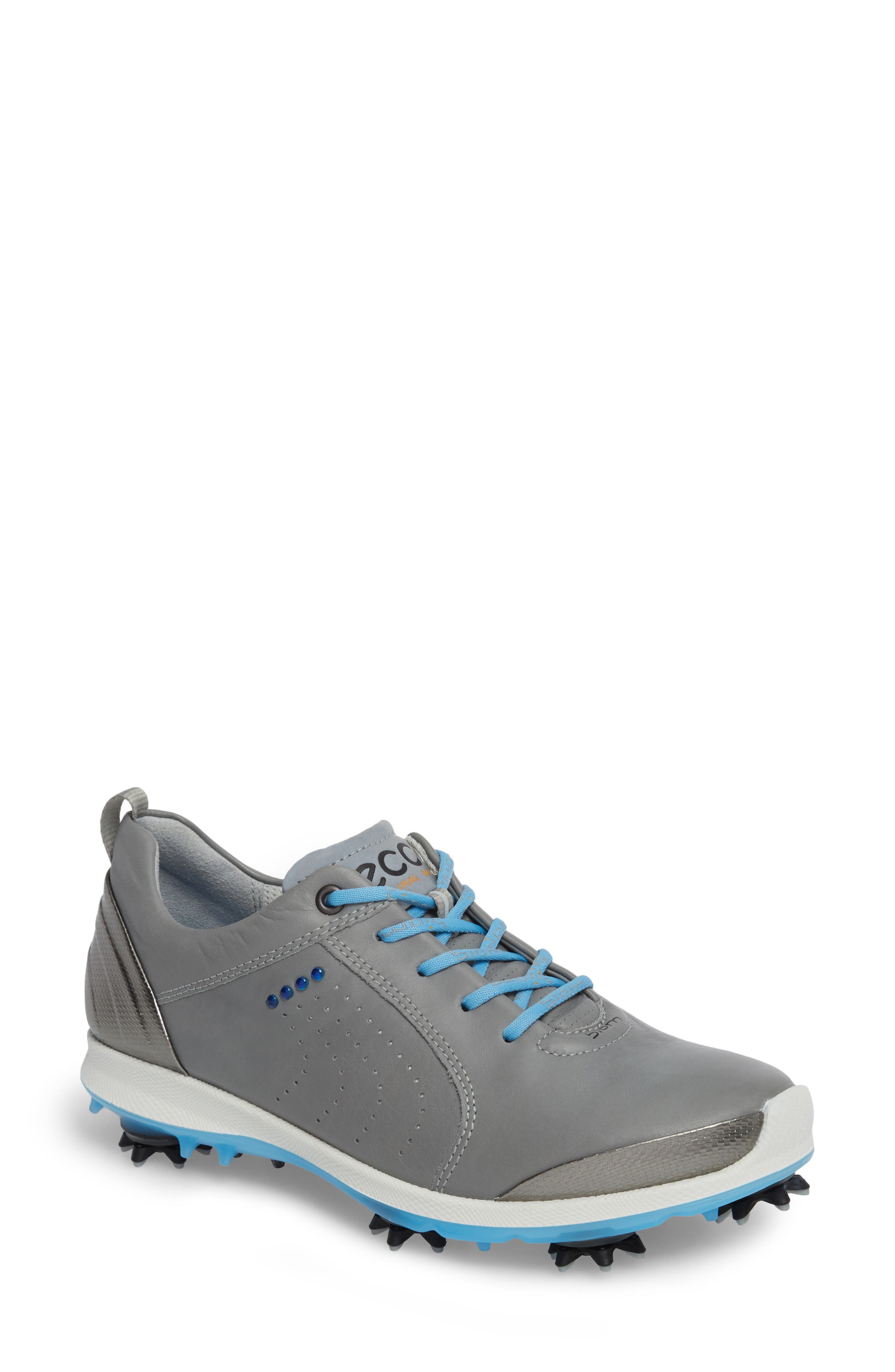 BIOM 2 Waterproof Golf Shoe,                             Main thumbnail 1, color,                             Wild Dove/ Sky Blue Leather
