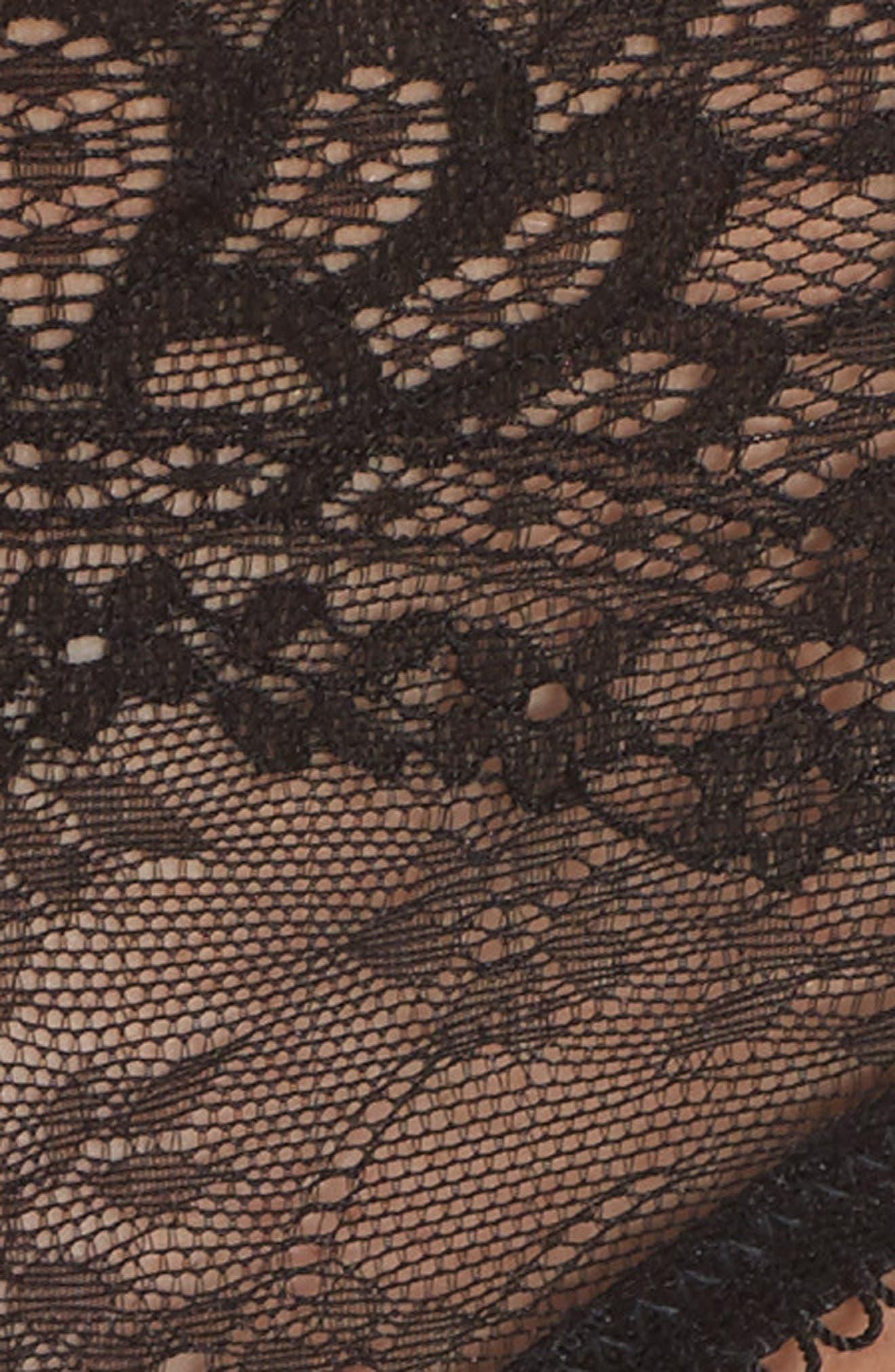 Lace Thong,                             Alternate thumbnail 6, color,                             Black