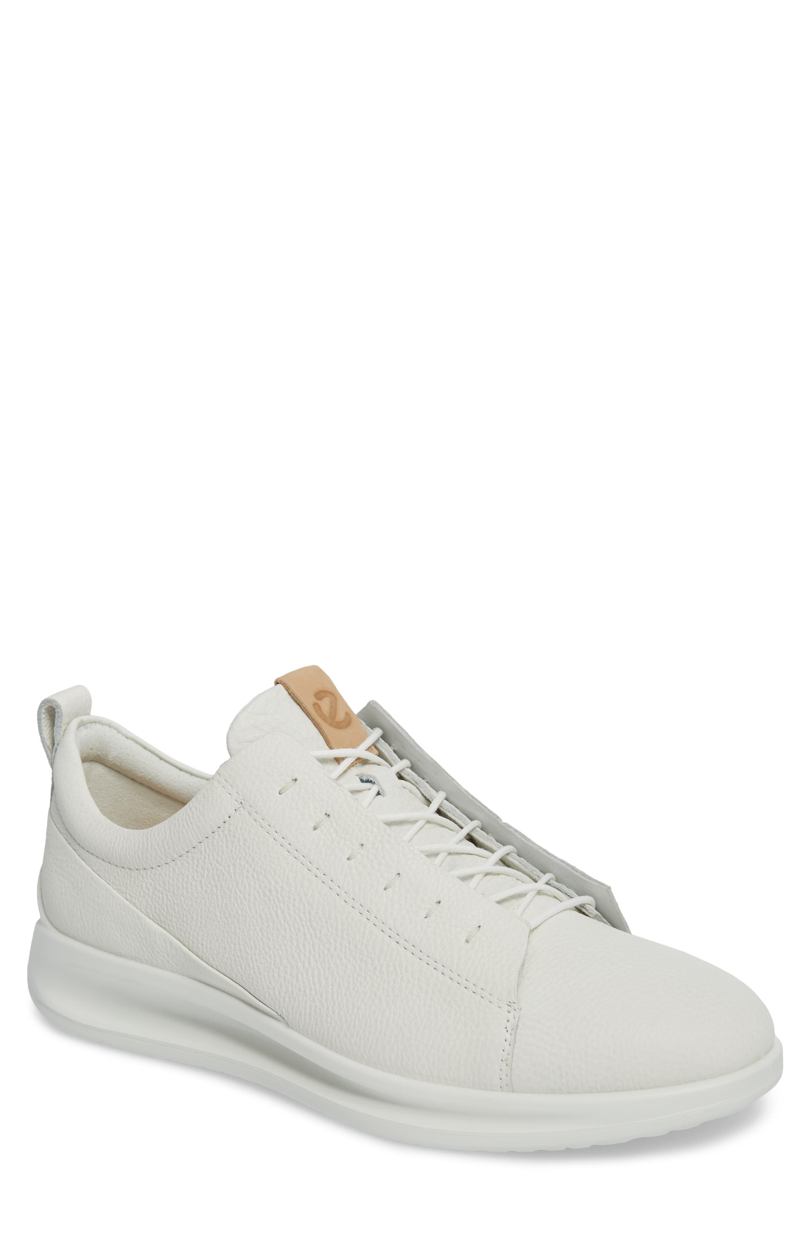 Aquet Low Top Sneaker,                             Main thumbnail 1, color,                             White Leather