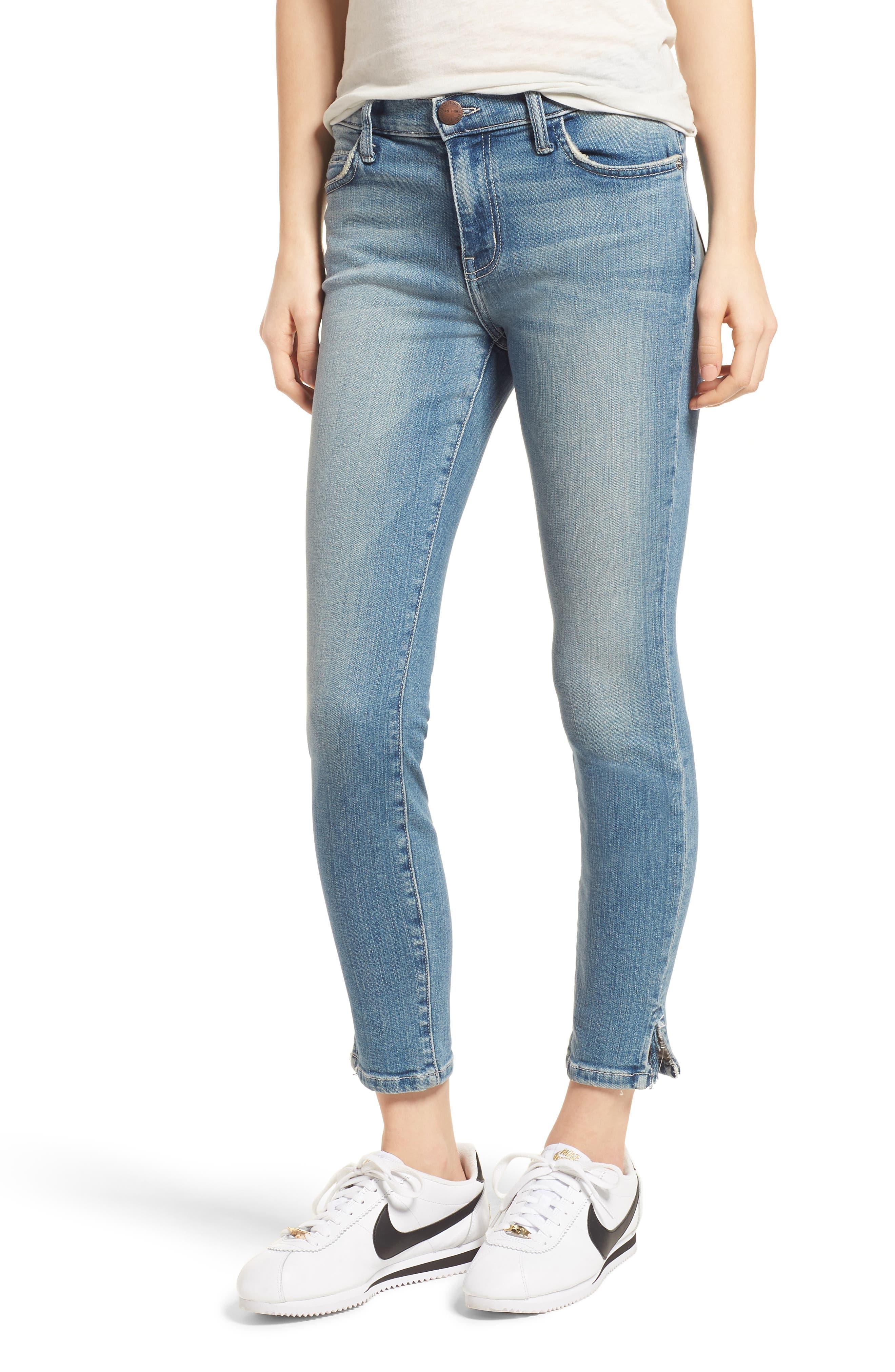 The Stiletto Vent Hem Skinny Jeans,                             Main thumbnail 1, color,                             Joey Medium