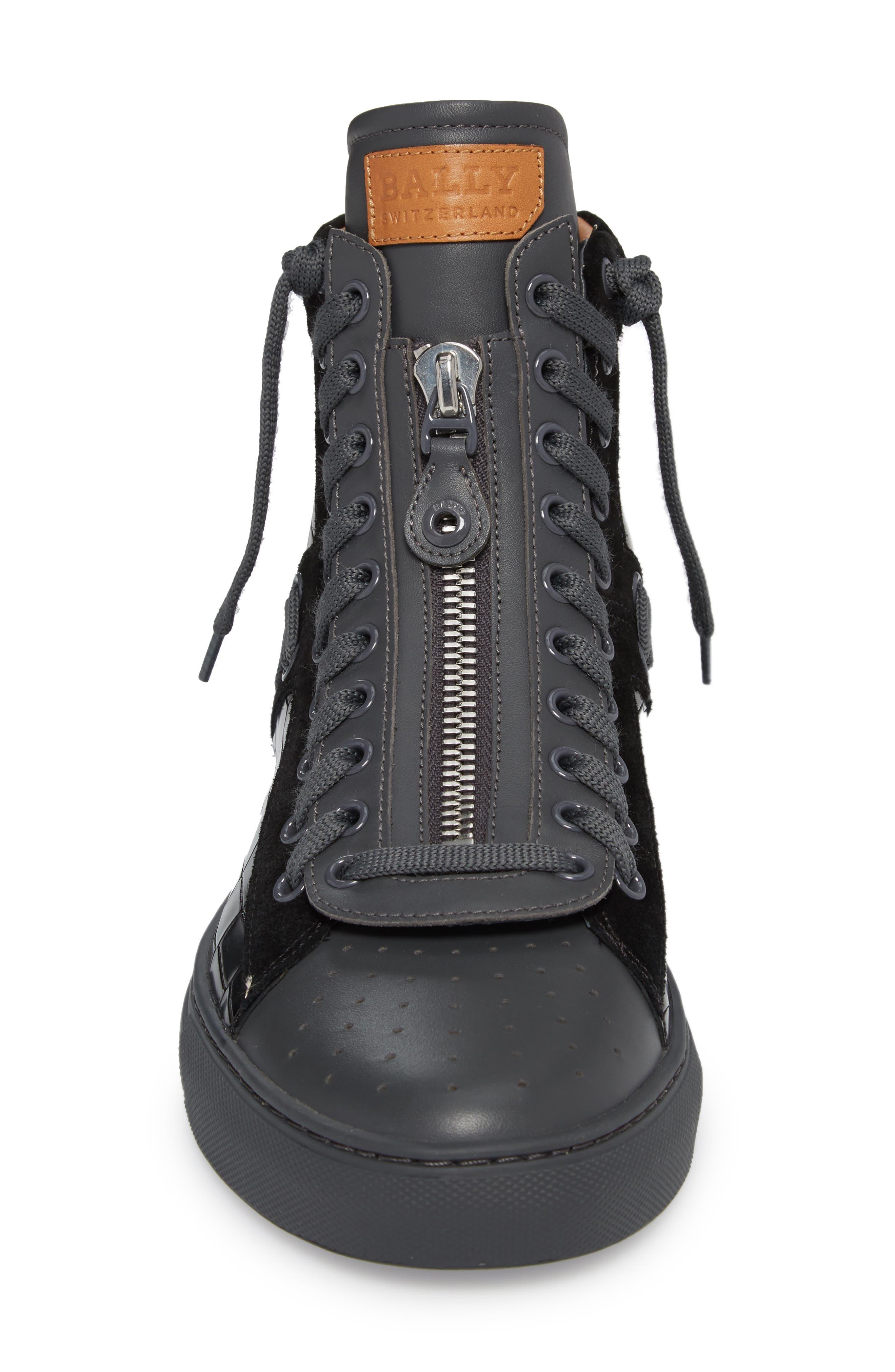 Hekem High-Top Sneaker,                             Alternate thumbnail 5, color,                             Black
