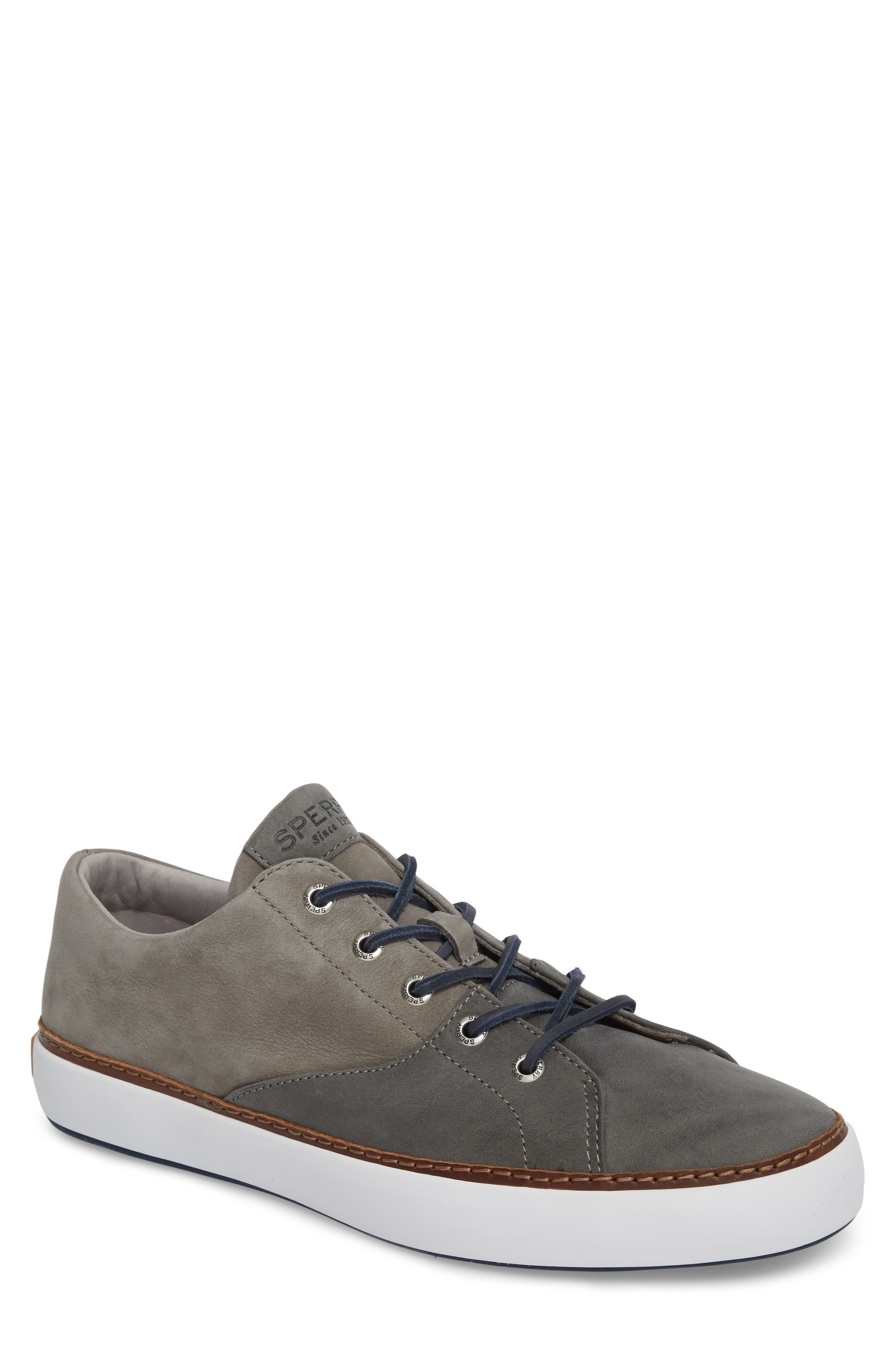 Gold Cup Haven Sneaker,                             Main thumbnail 1, color,                             Grey Leather