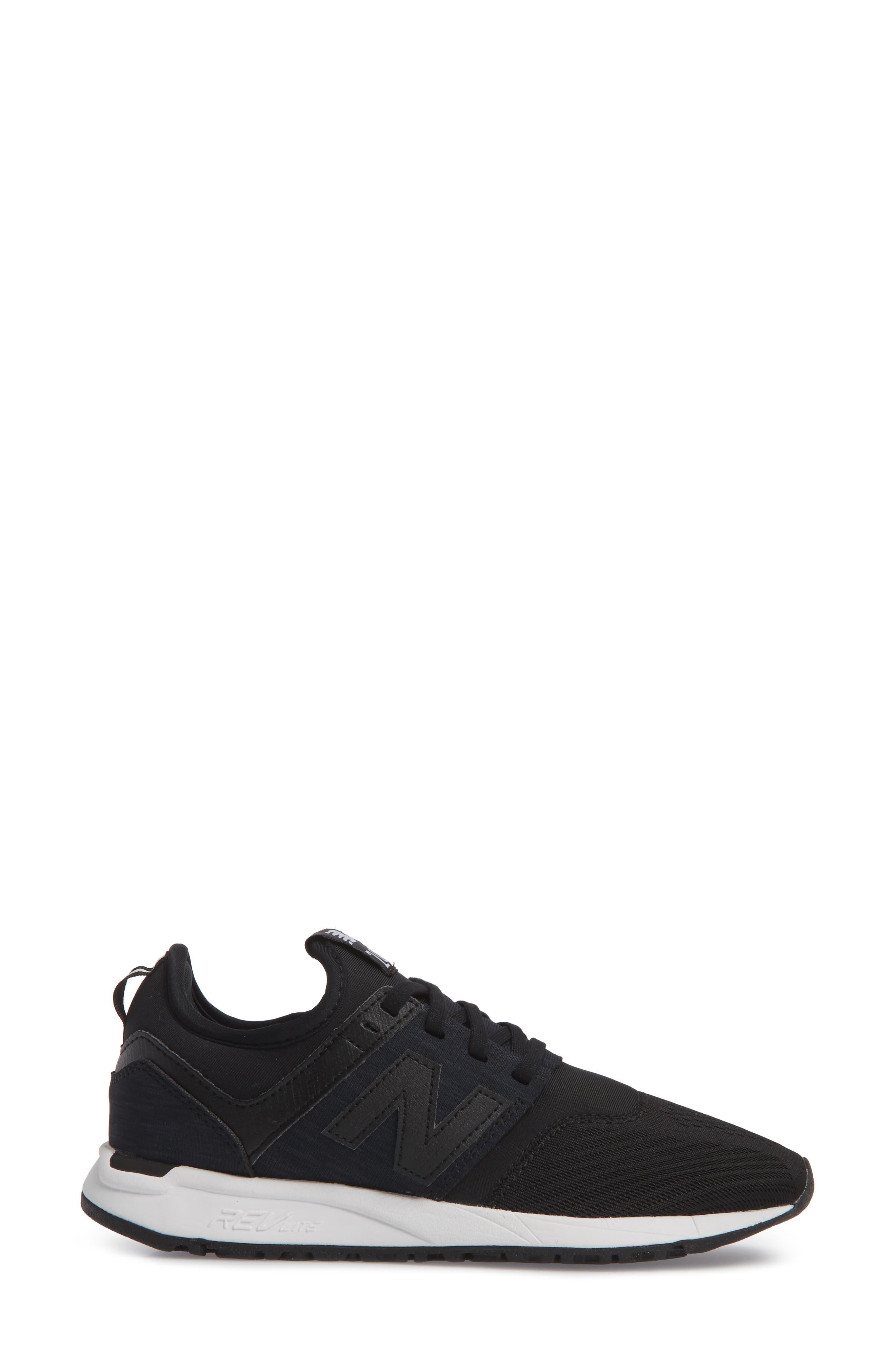 247 Classic Sneaker,                             Alternate thumbnail 3, color,                             Black
