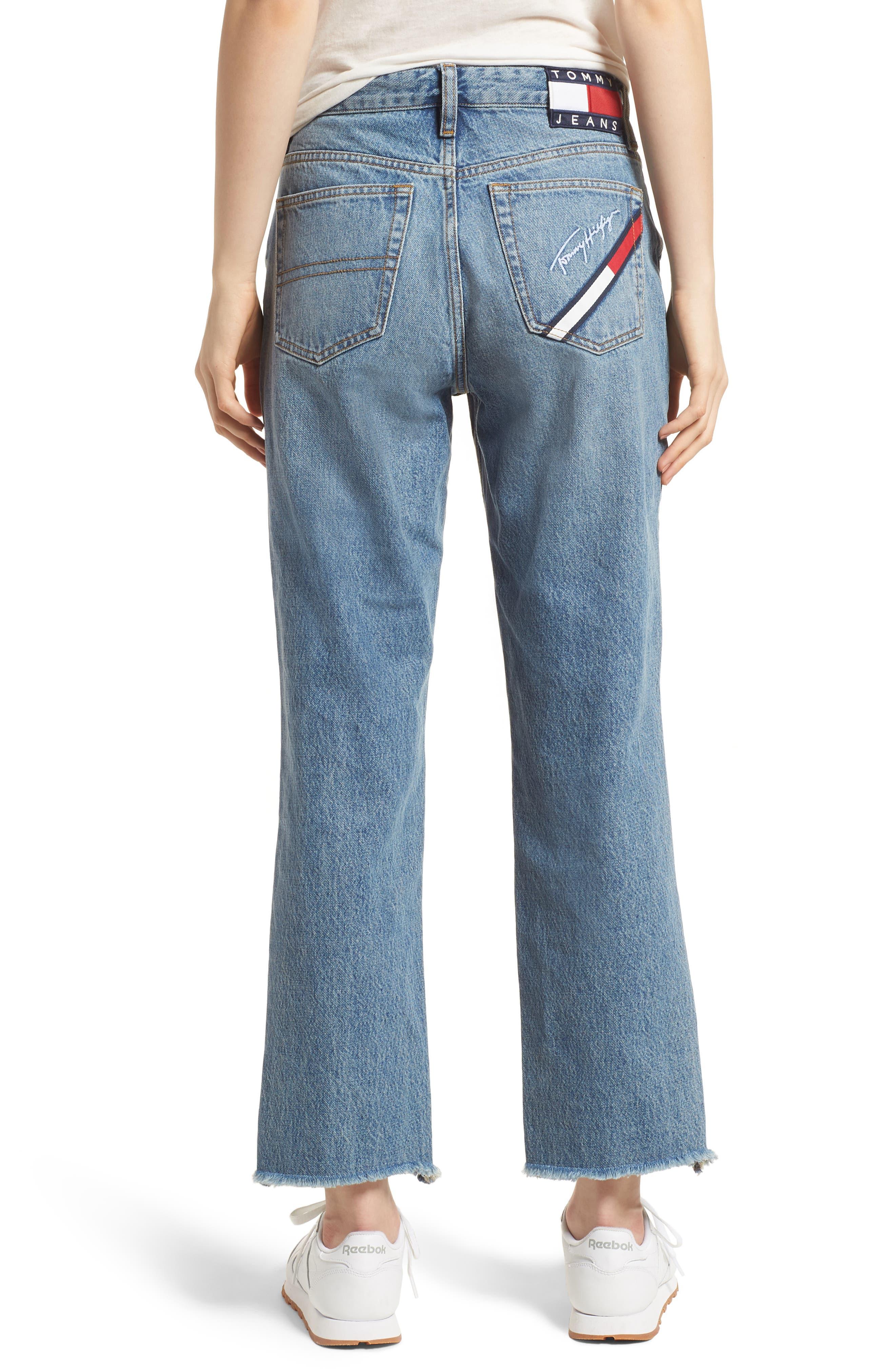 TJW 90s Mom Jeans,                             Alternate thumbnail 3, color,                             Mid Blue Denim