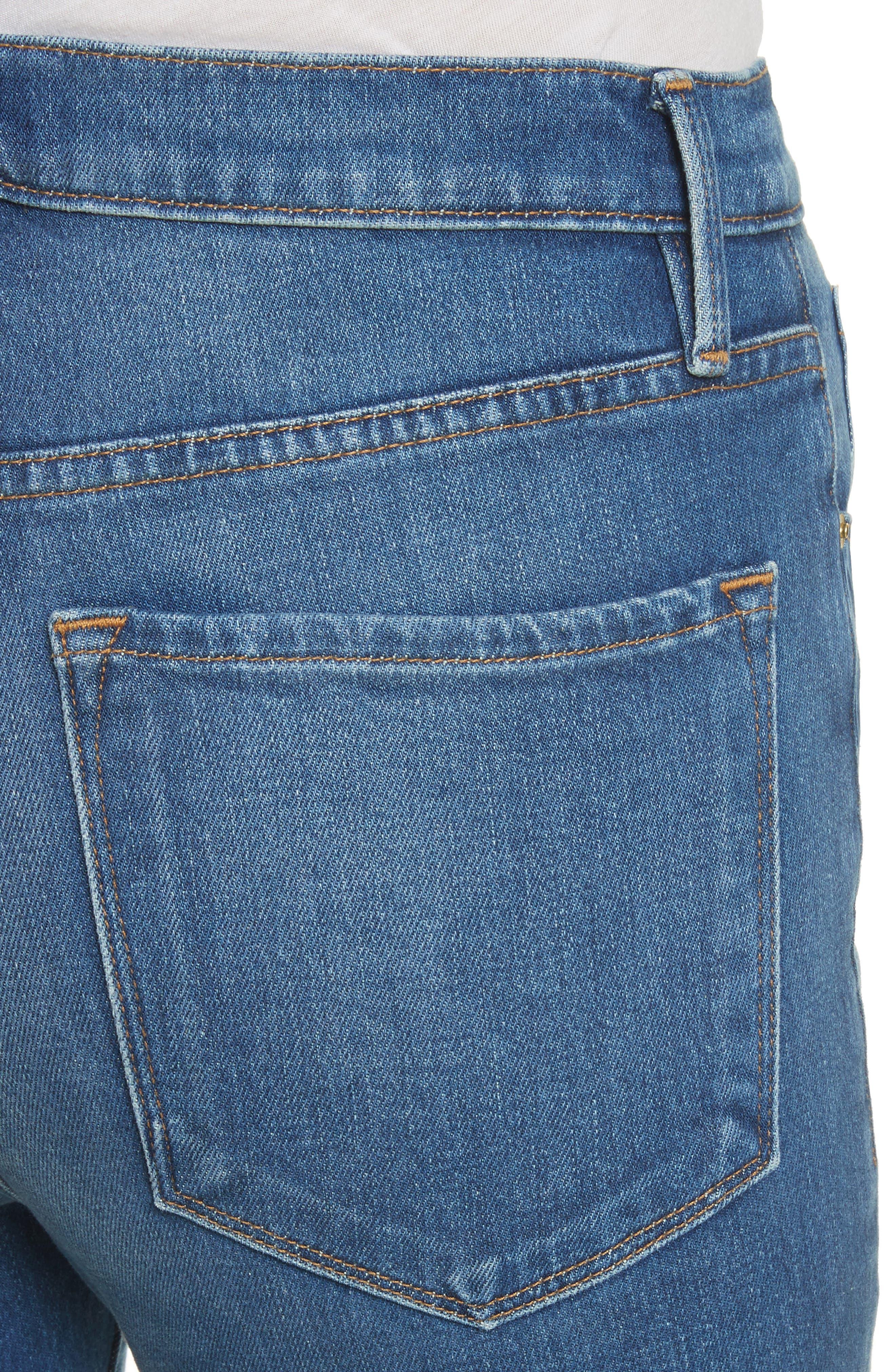 Ali High Waist Skinny Cigarette Jeans,                             Alternate thumbnail 5, color,                             Olympus