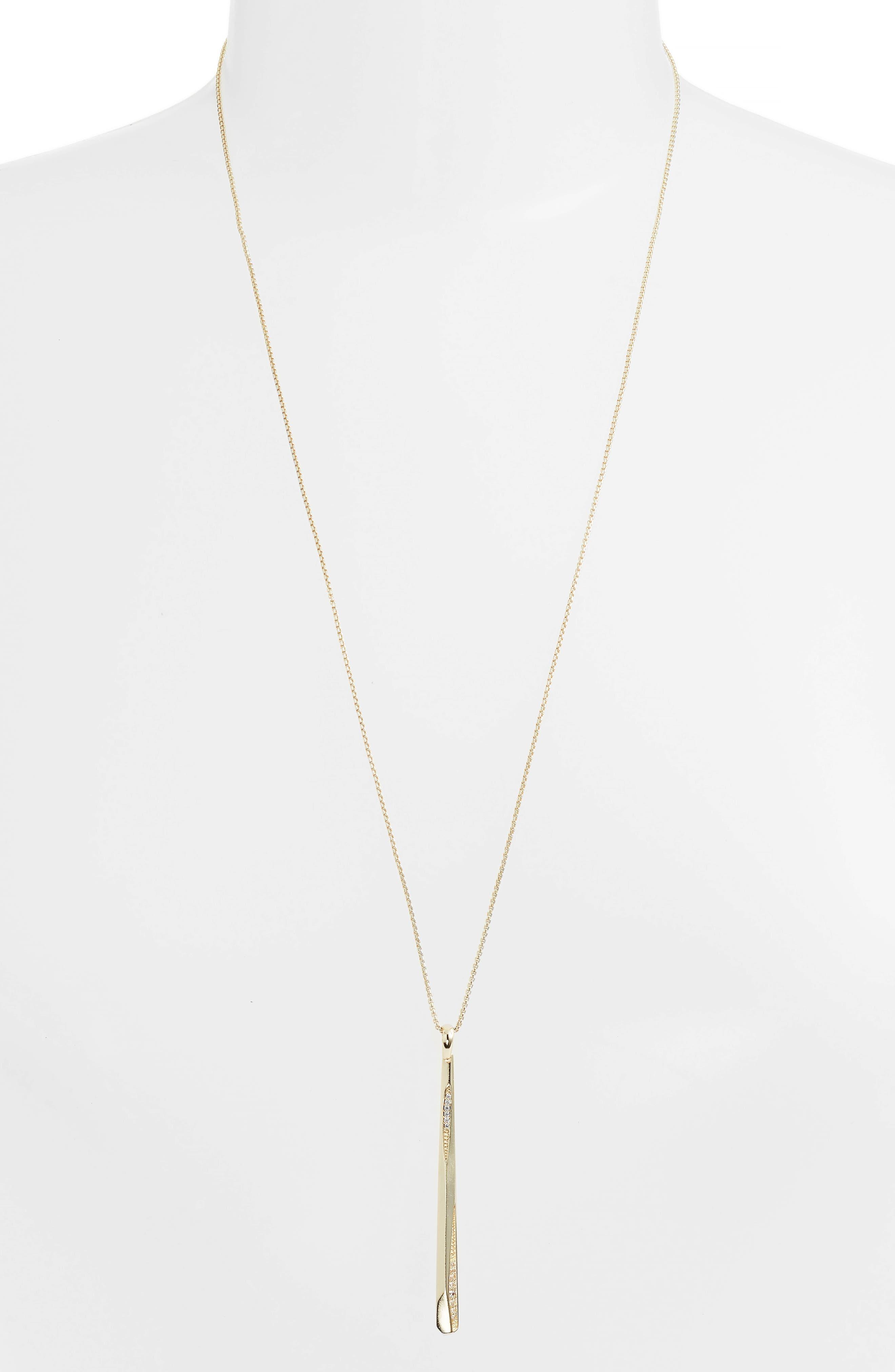 Ro Adjustable Necklace,                             Alternate thumbnail 2, color,                             White Cz/ Gold