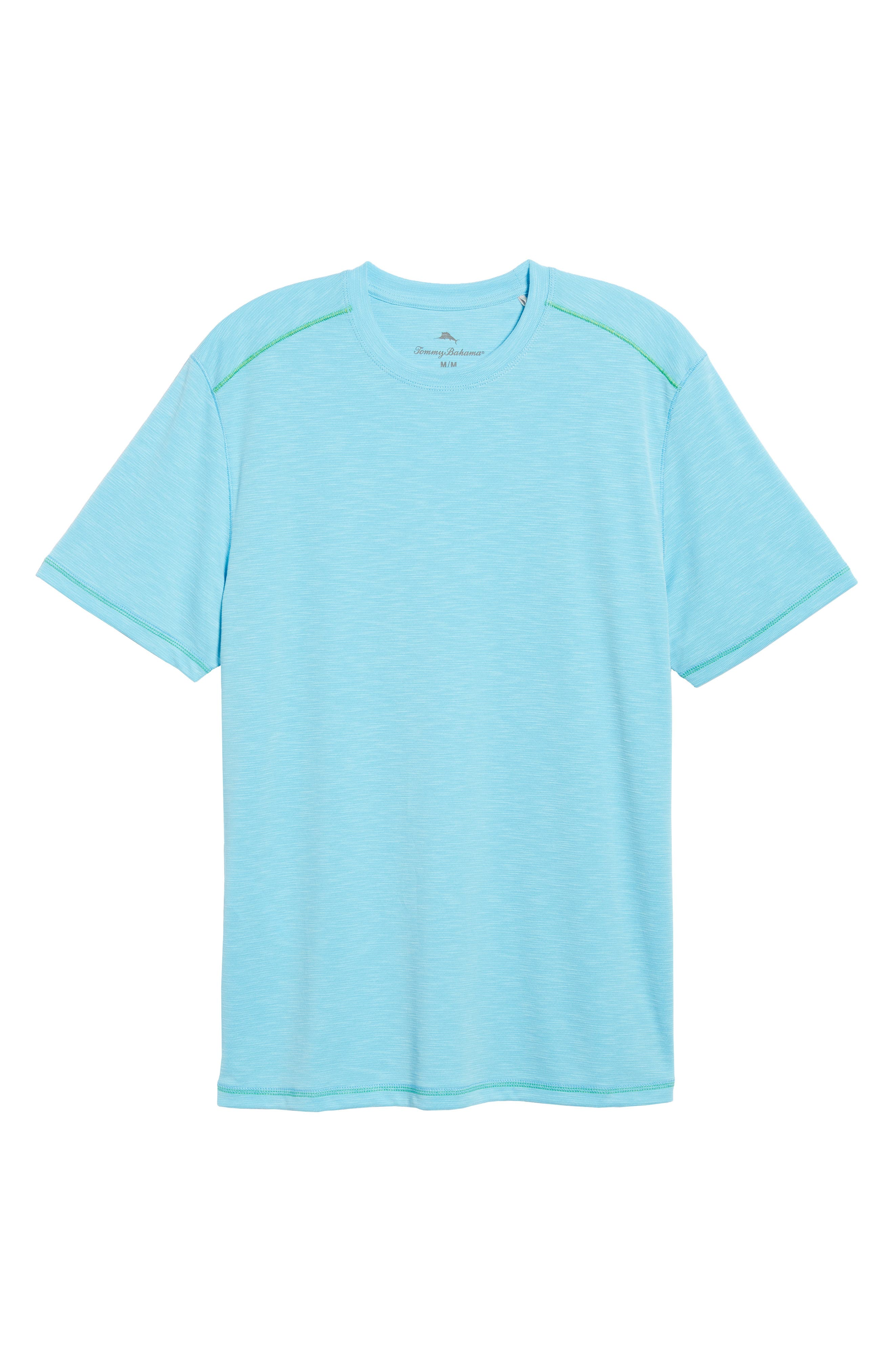 'Paradise Around' Crewneck T-Shirt,                         Main,                         color, Breeze Blue