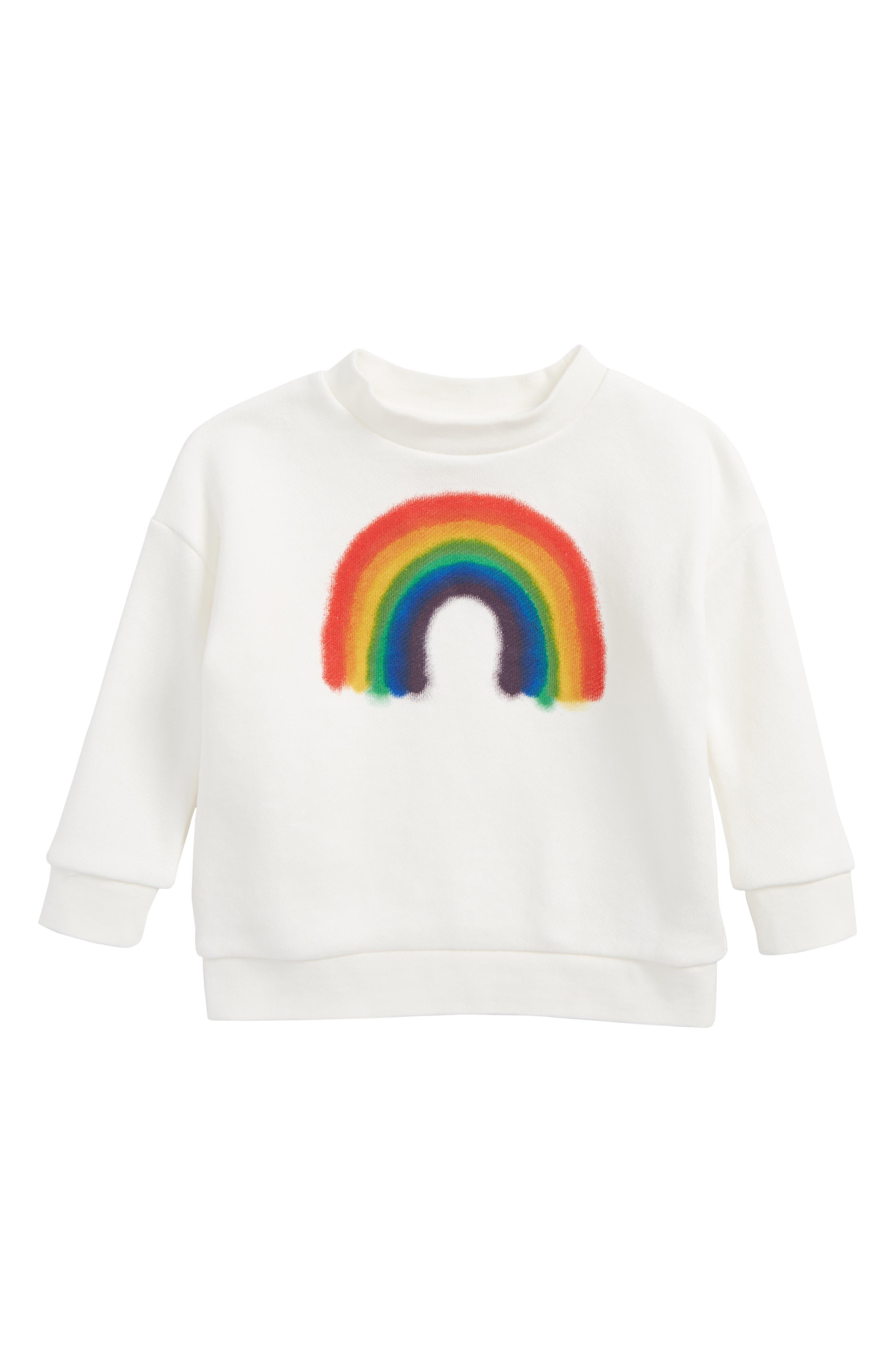 Maxi Rainbow Sweatshirt,                         Main,                         color, White Star