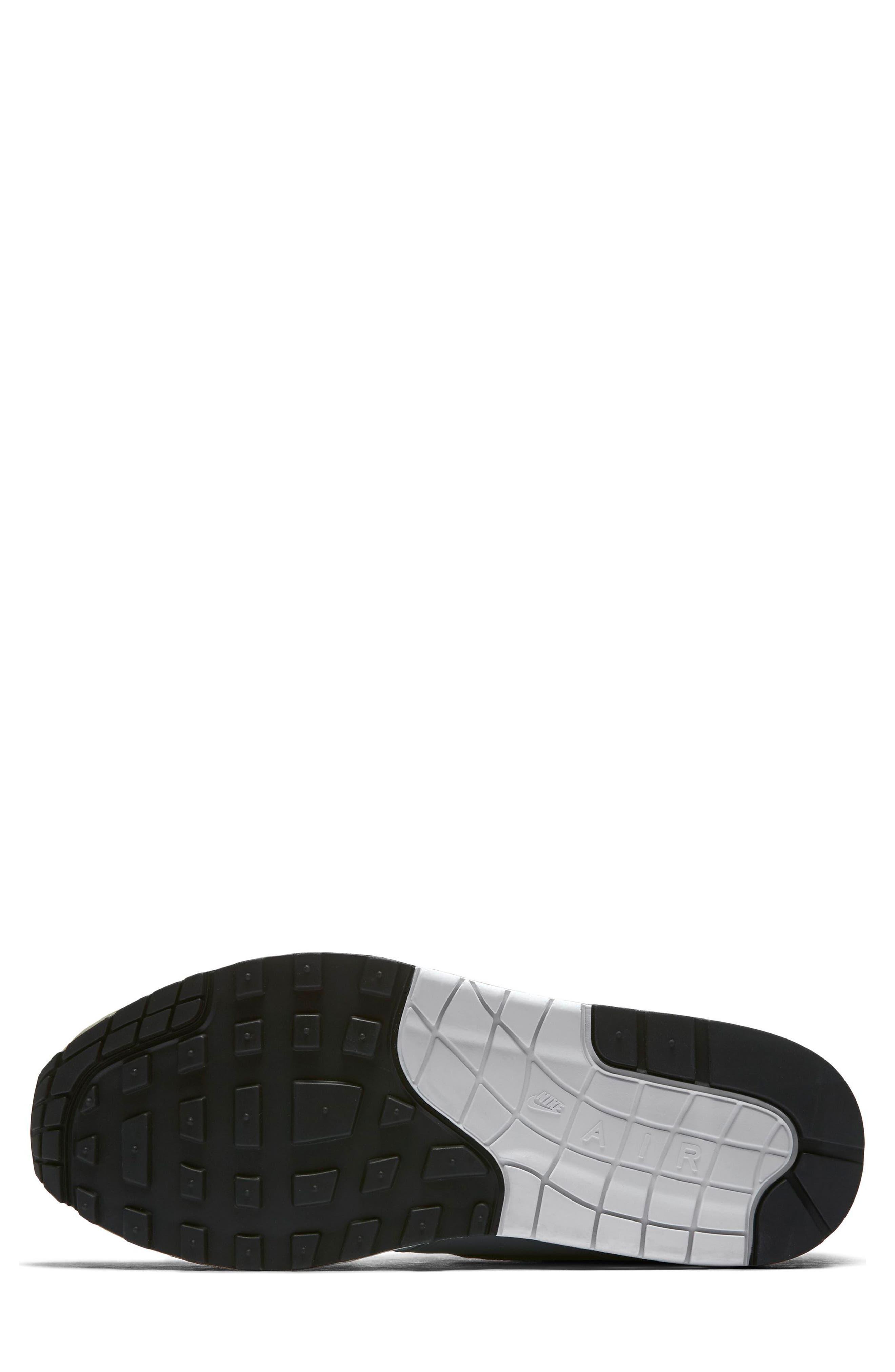 Air Max 1 Sneaker,                             Alternate thumbnail 5, color,                             White/ Dark Stucco