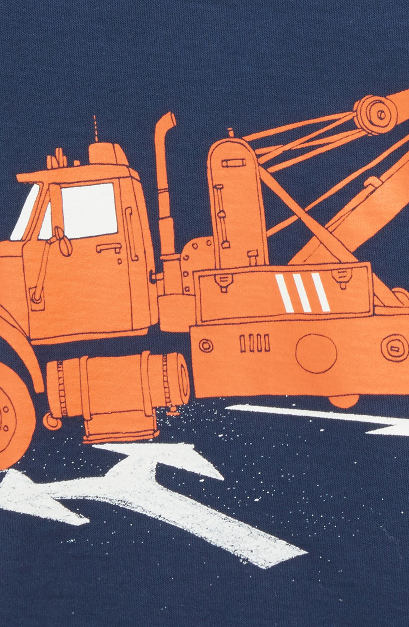 Tow Truck Graphic T-Shirt,                             Alternate thumbnail 2, color,                             Whale Blue