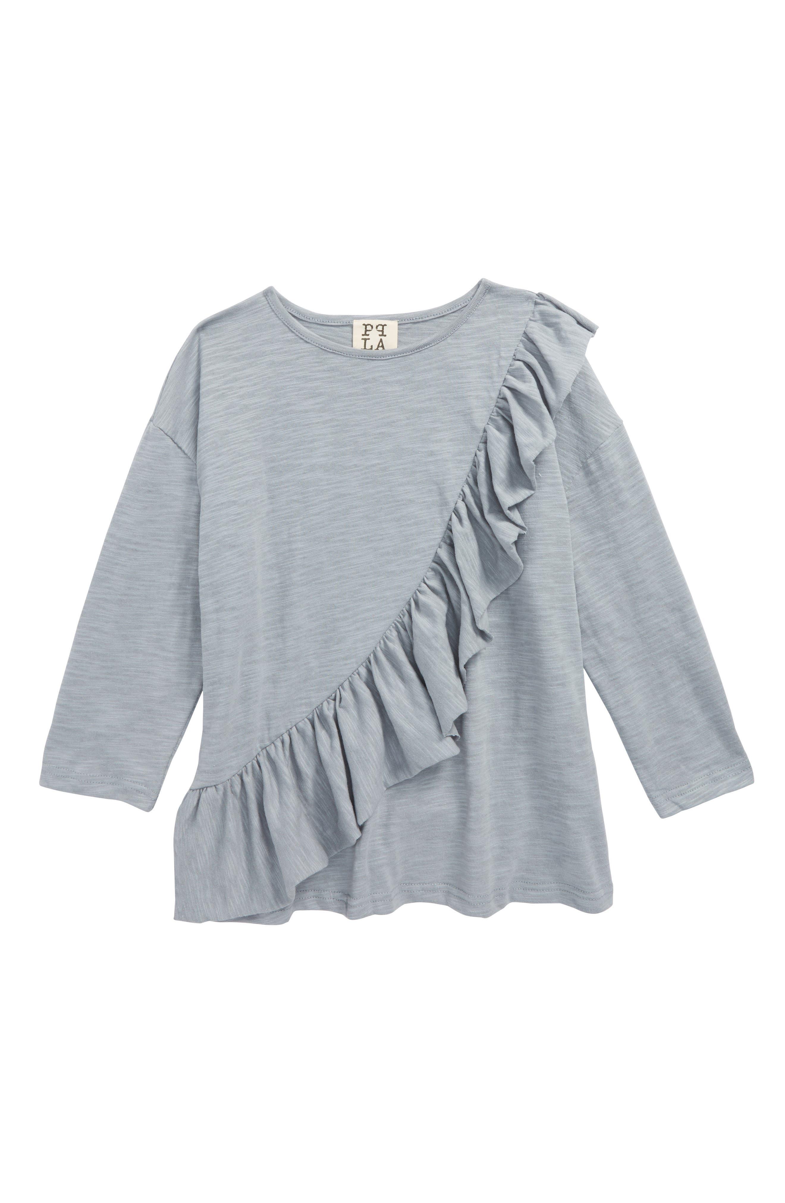 PPLA Silverlake Asymmetrical Ruffle Top (Big Girls)