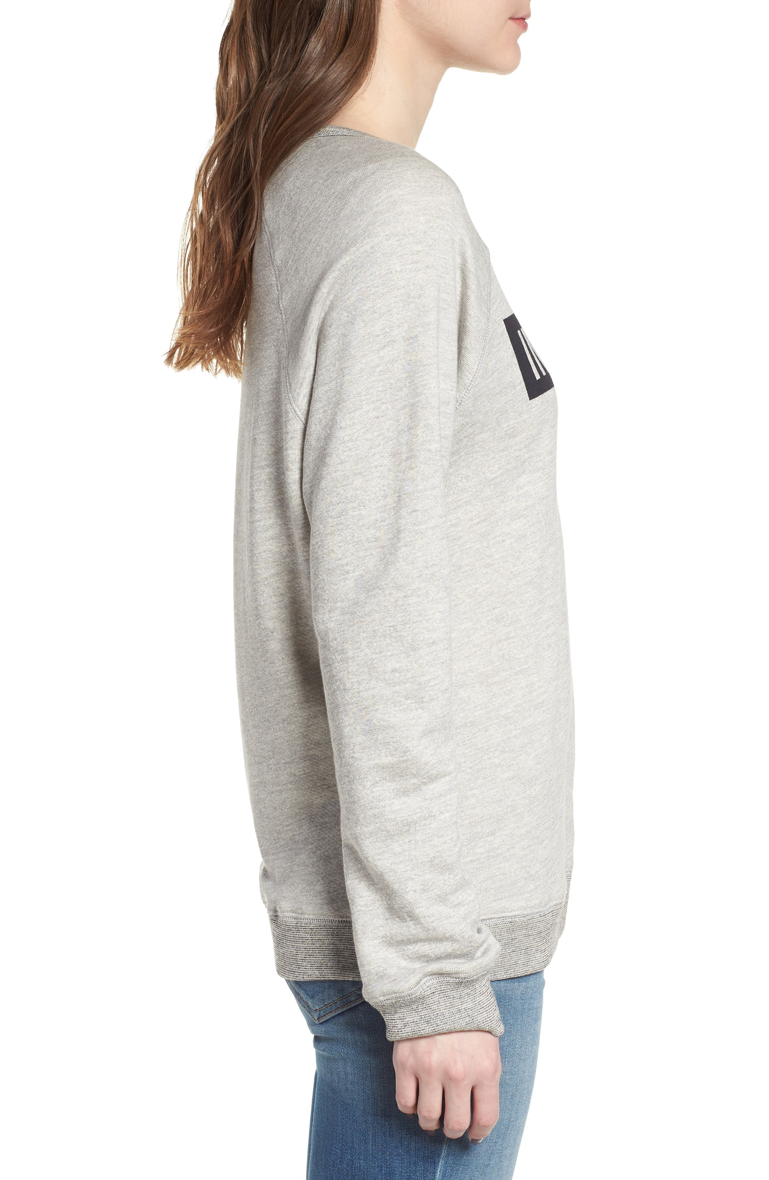 Influencer Sweatshirt,                             Alternate thumbnail 3, color,                             Heather Grey