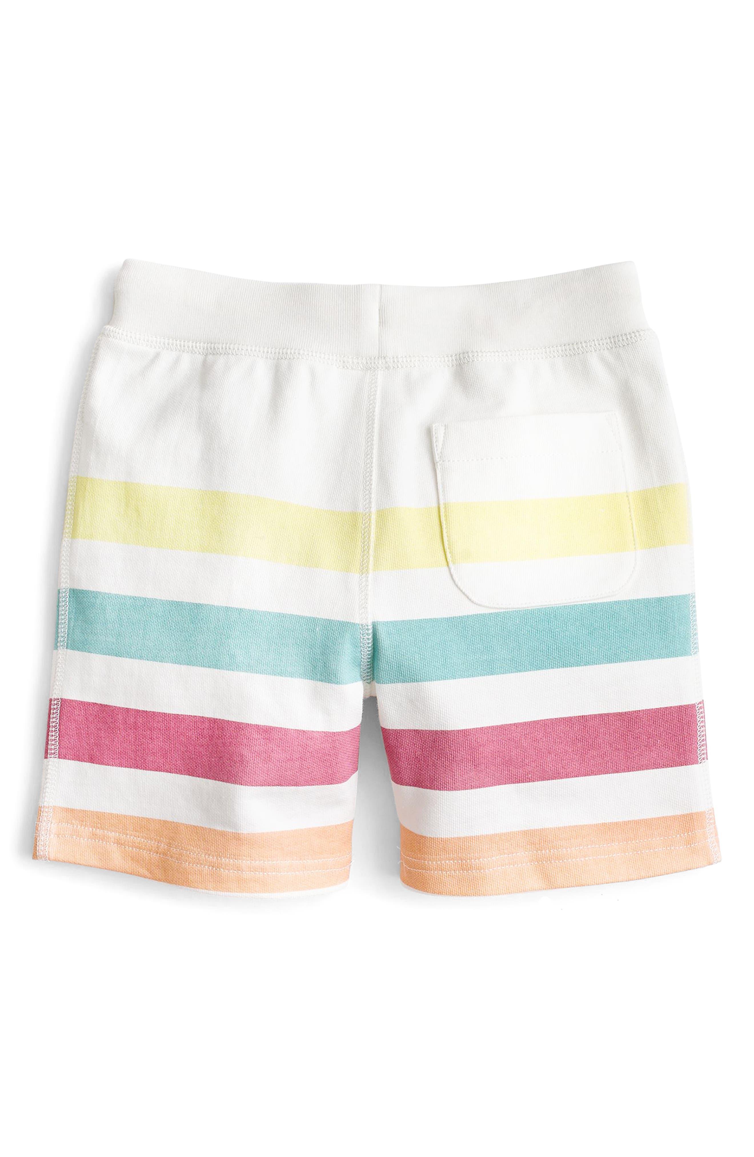 Blanket Stripe Sweat Shorts,                             Alternate thumbnail 2, color,                             Ivory Multi