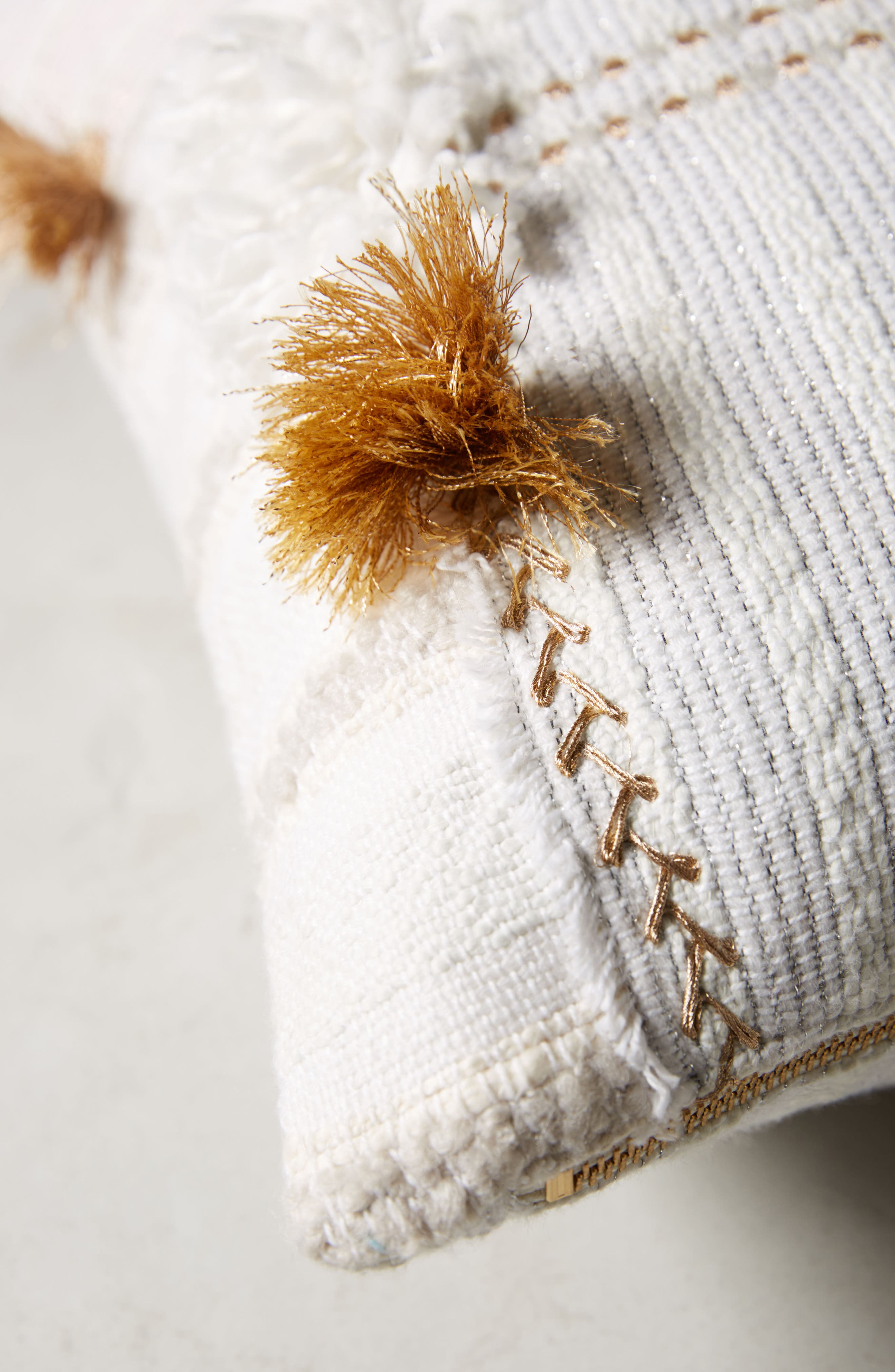 Yoursa Accent Pillow,                             Alternate thumbnail 4, color,                             Ivory