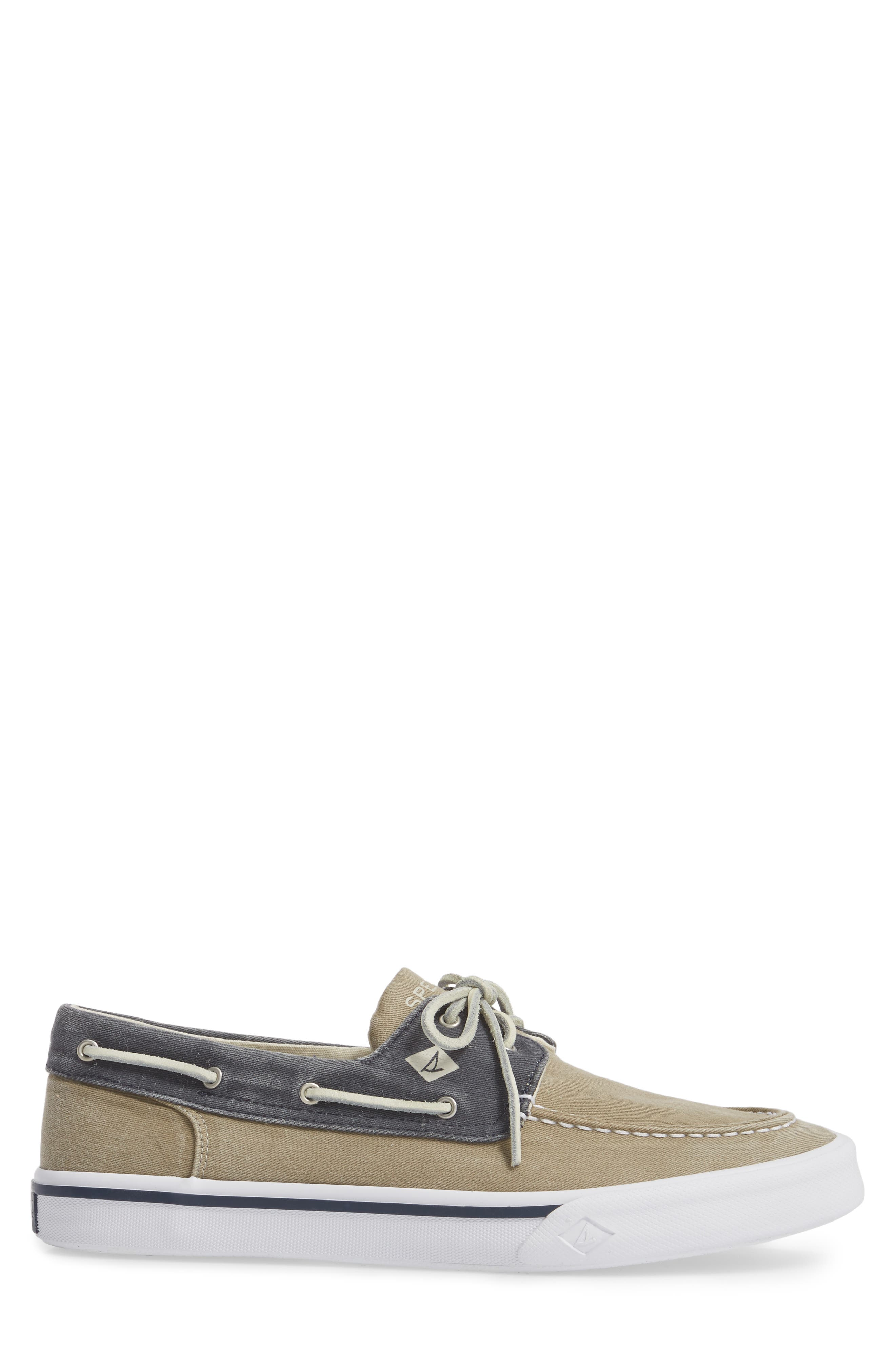 Striper II Boat Shoe,                             Alternate thumbnail 3, color,                             Taupe/ Navy
