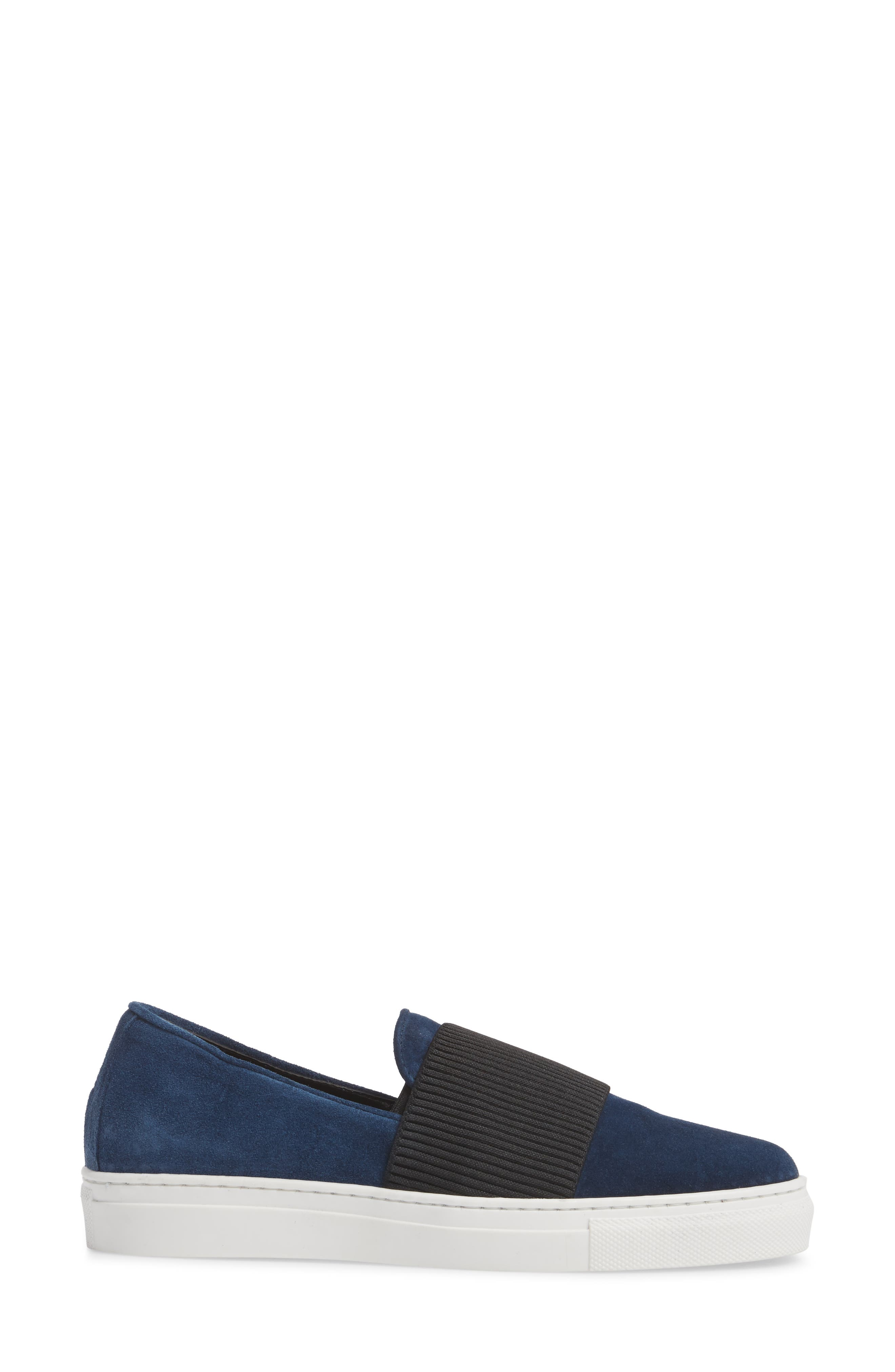 Otto Slip-On Sneaker,                             Alternate thumbnail 3, color,                             Navy Suede