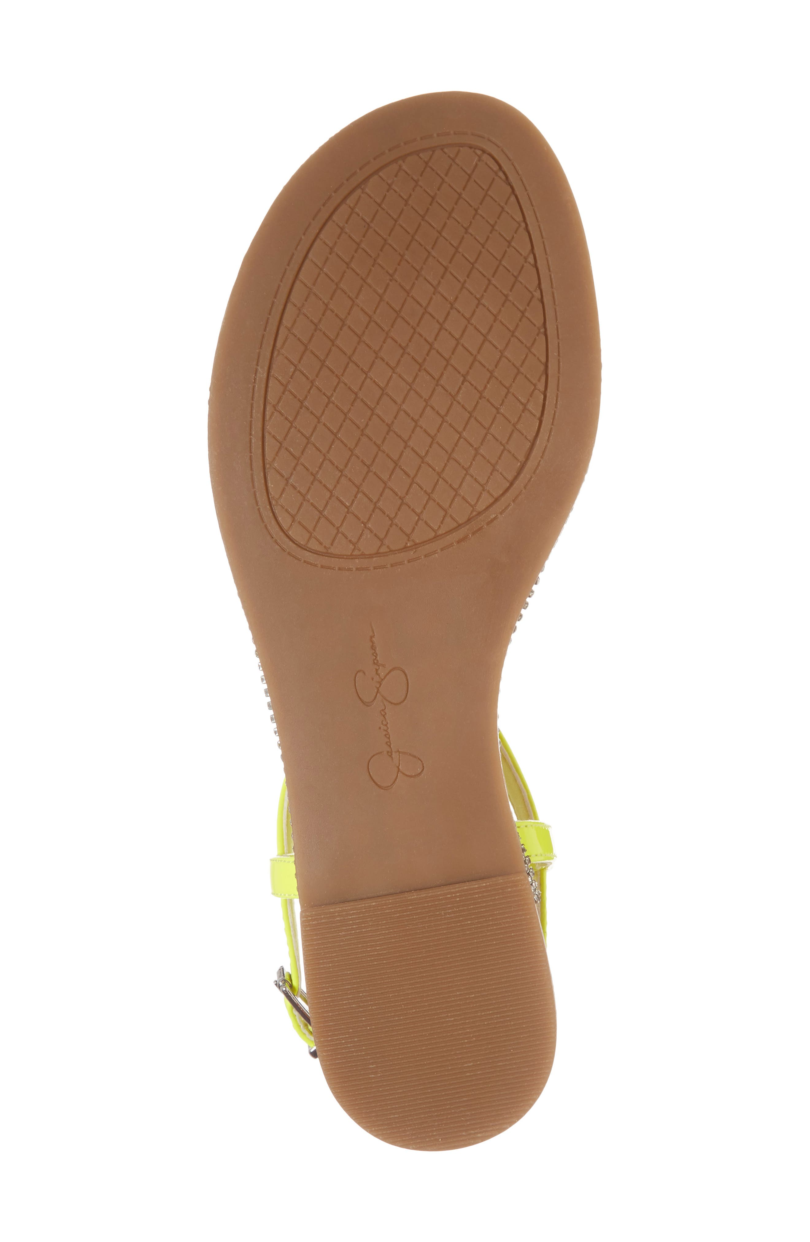 Brimah Sandal,                             Alternate thumbnail 6, color,                             Yellow Shock