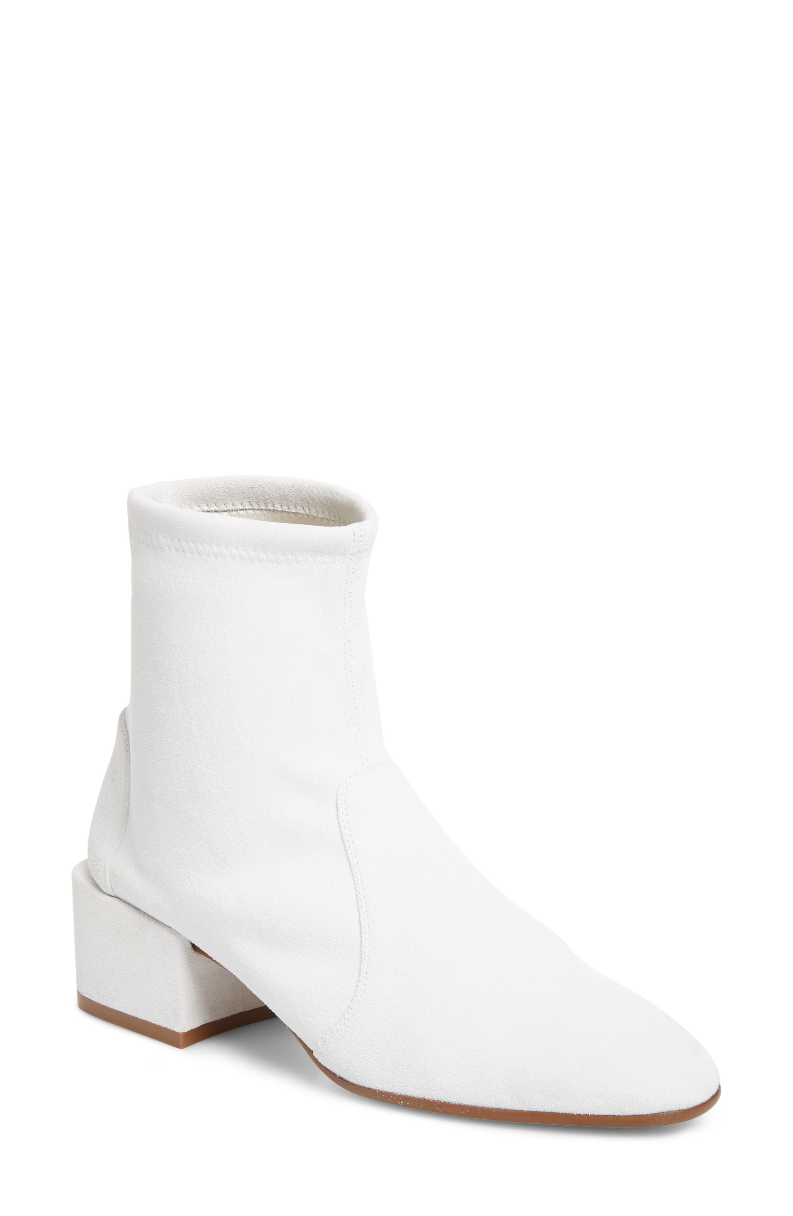Accordion Bootie,                             Main thumbnail 1, color,                             Off White Seda Suede