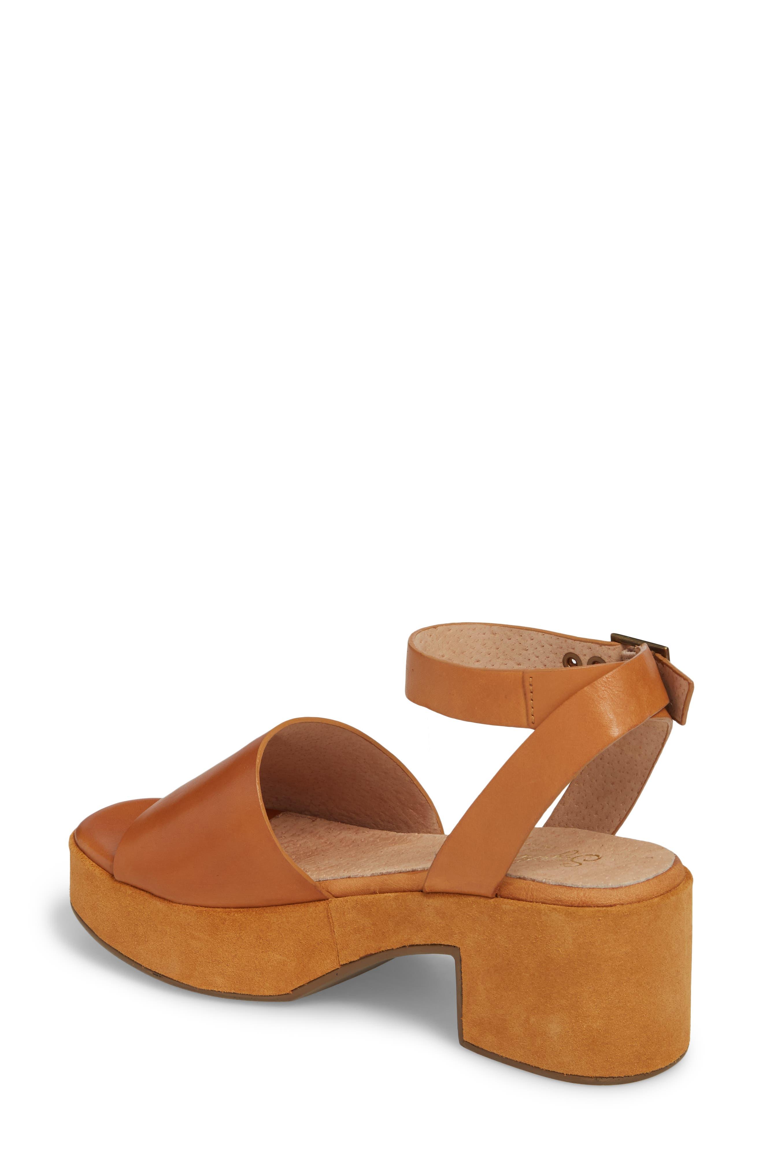 Calming Influence Platform Sandal,                             Alternate thumbnail 2, color,                             Tan Leather