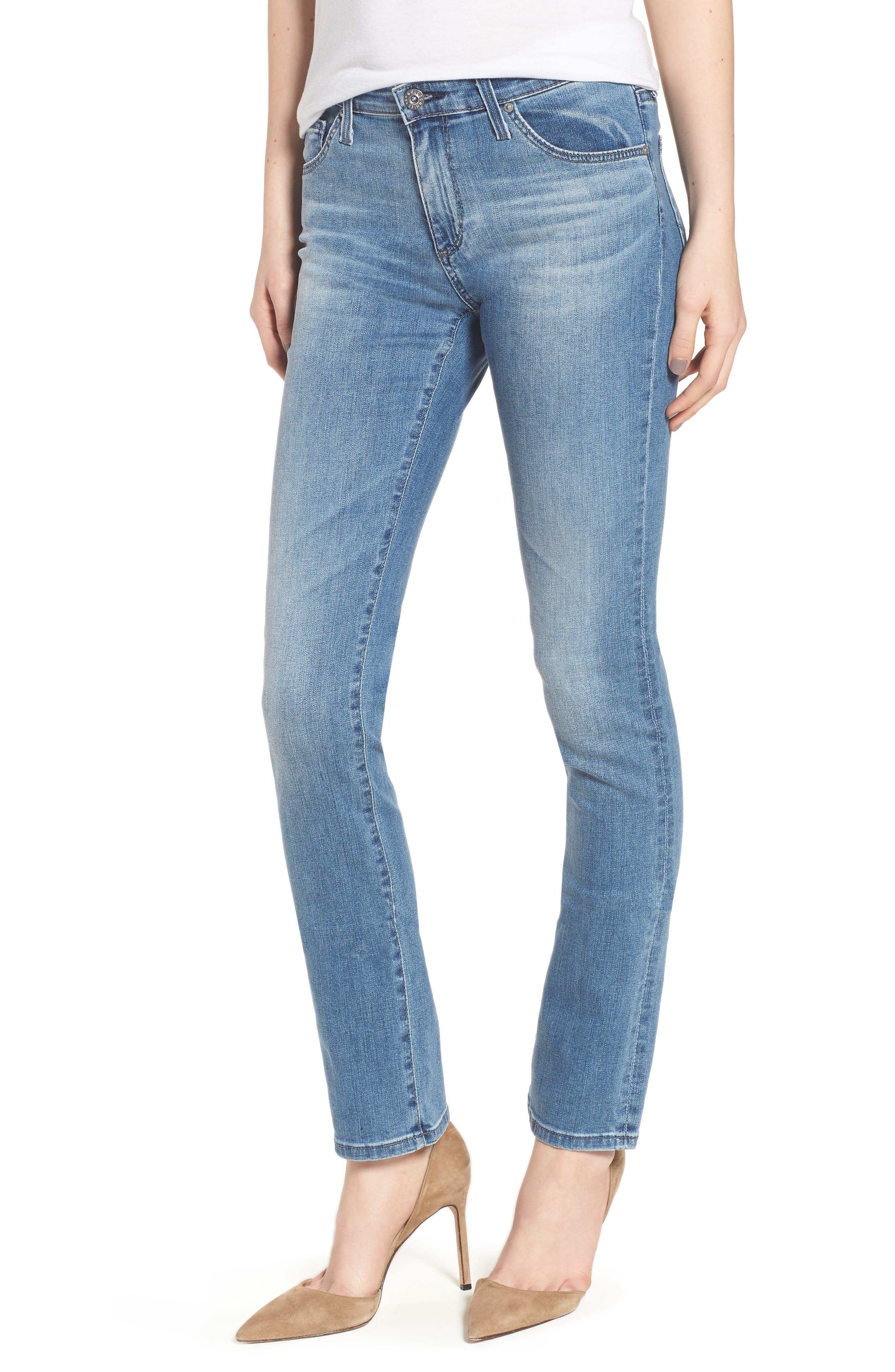 Harper Slim Straight Leg Jeans,                             Main thumbnail 1, color,                             Sea Sprite