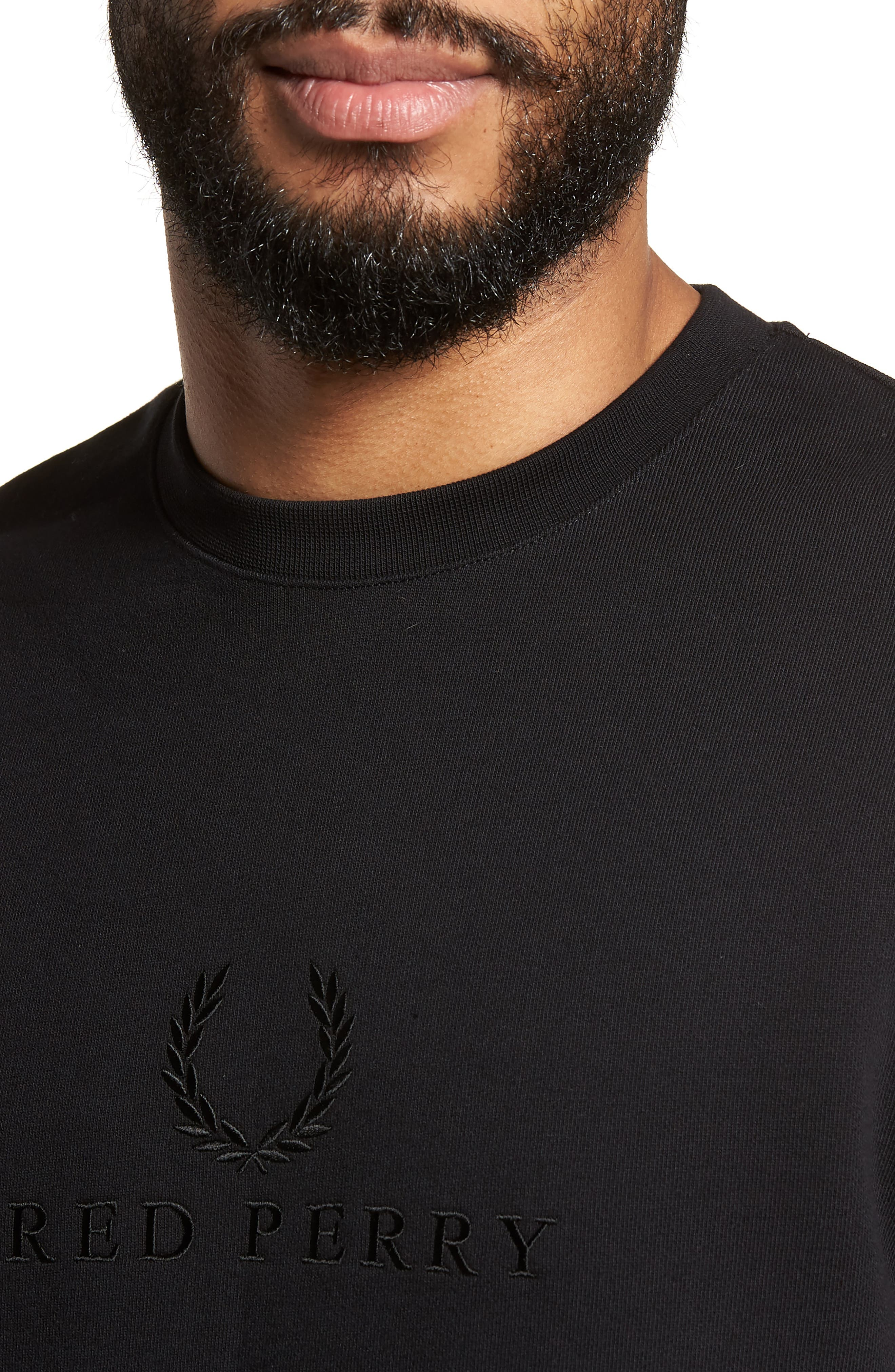 Alternate Image 4  - Fred Perry Embroidered Sweatshirt