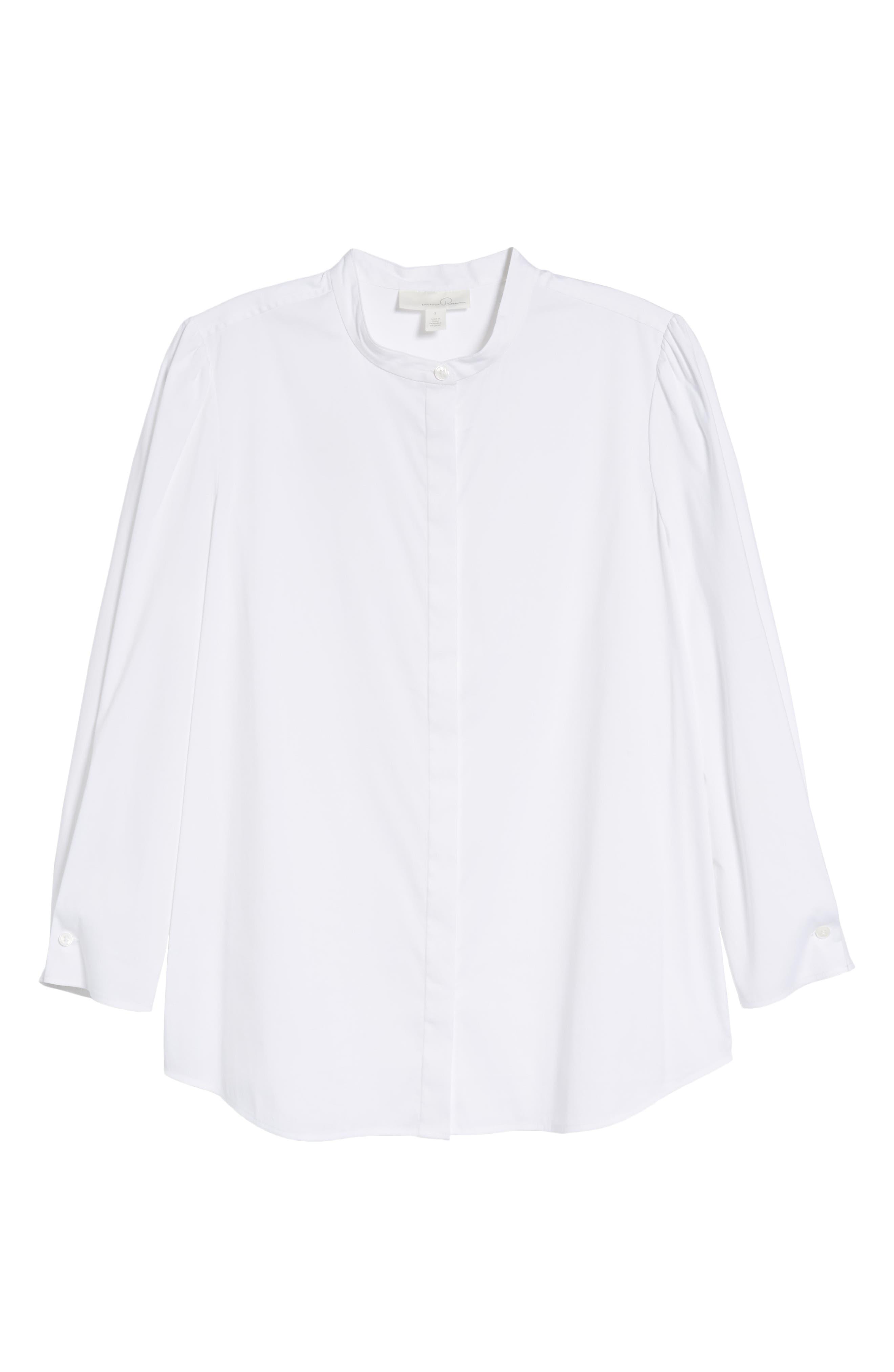 Stretch Poplin Shirt,                             Alternate thumbnail 7, color,                             White