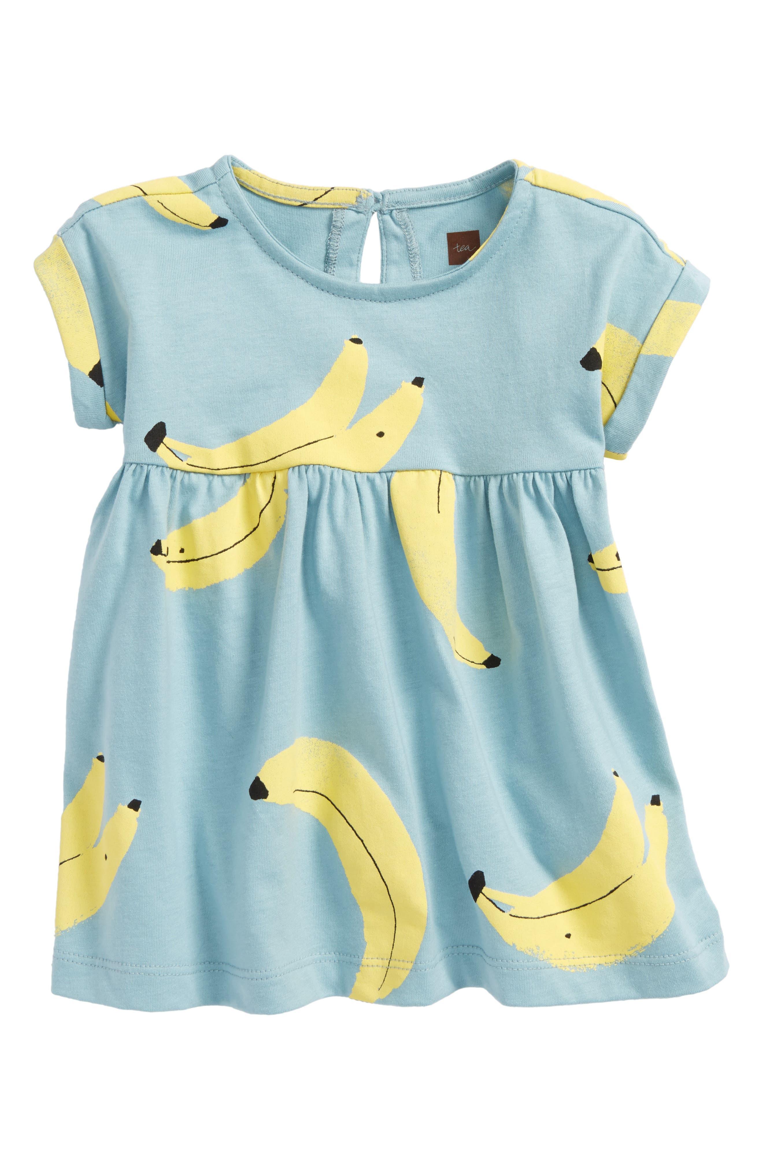 Bananas Knit Dress,                         Main,                         color, Bananas