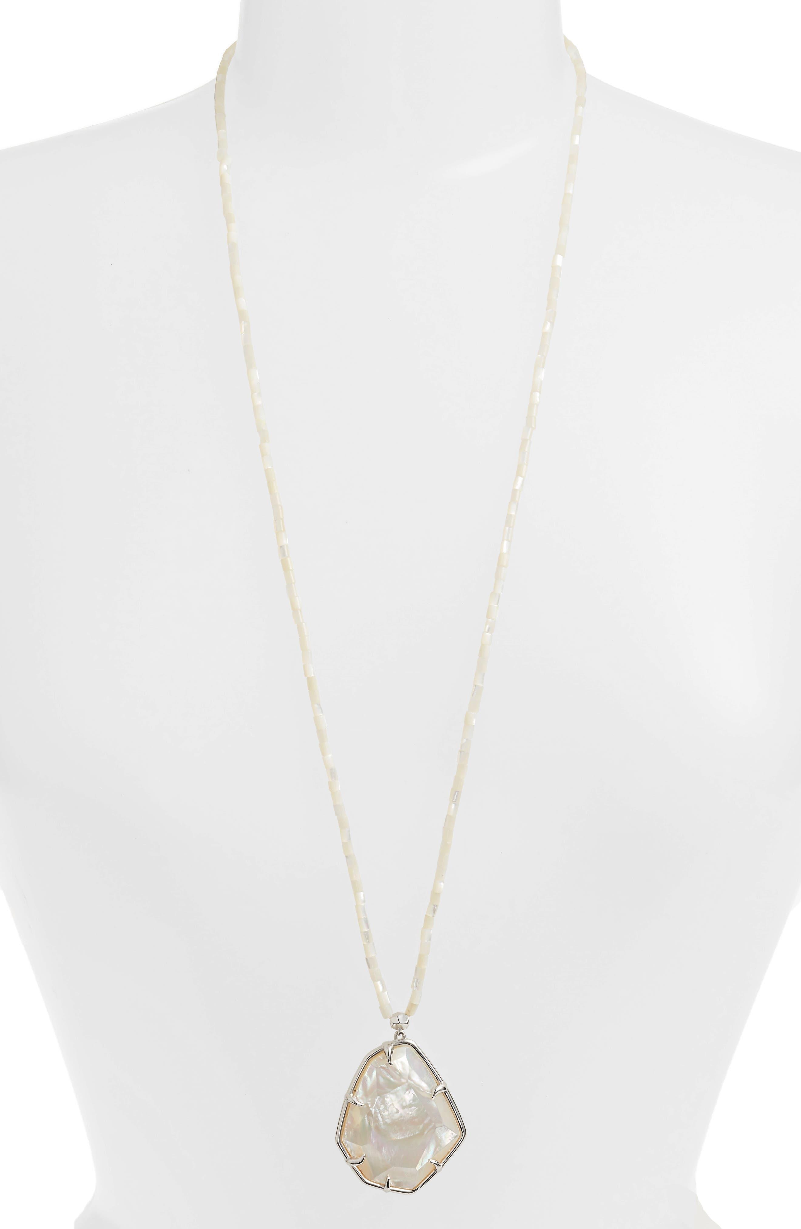 Beatrix Pendant Necklace,                             Main thumbnail 1, color,                             Ivory Mop/ Silver