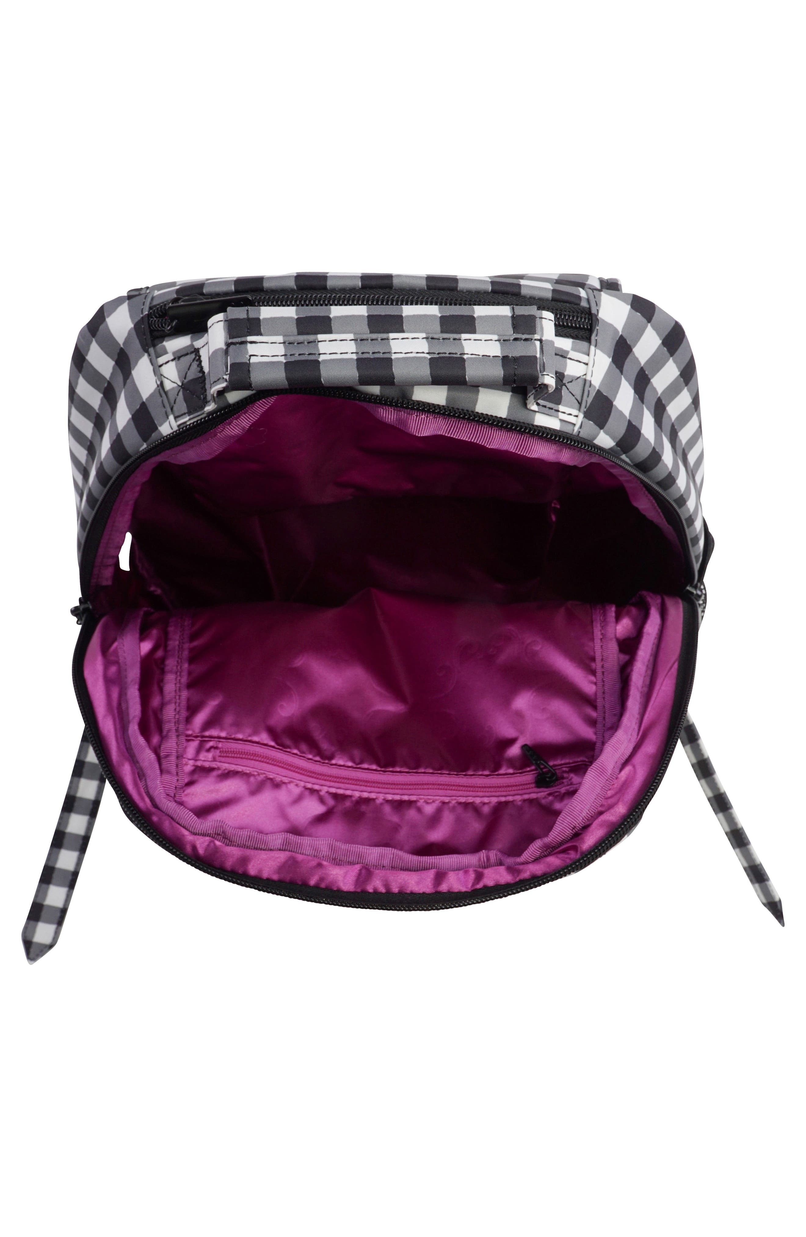 Onyx Be Packed Diaper Backpack,                             Alternate thumbnail 5, color,                             Gingham Style