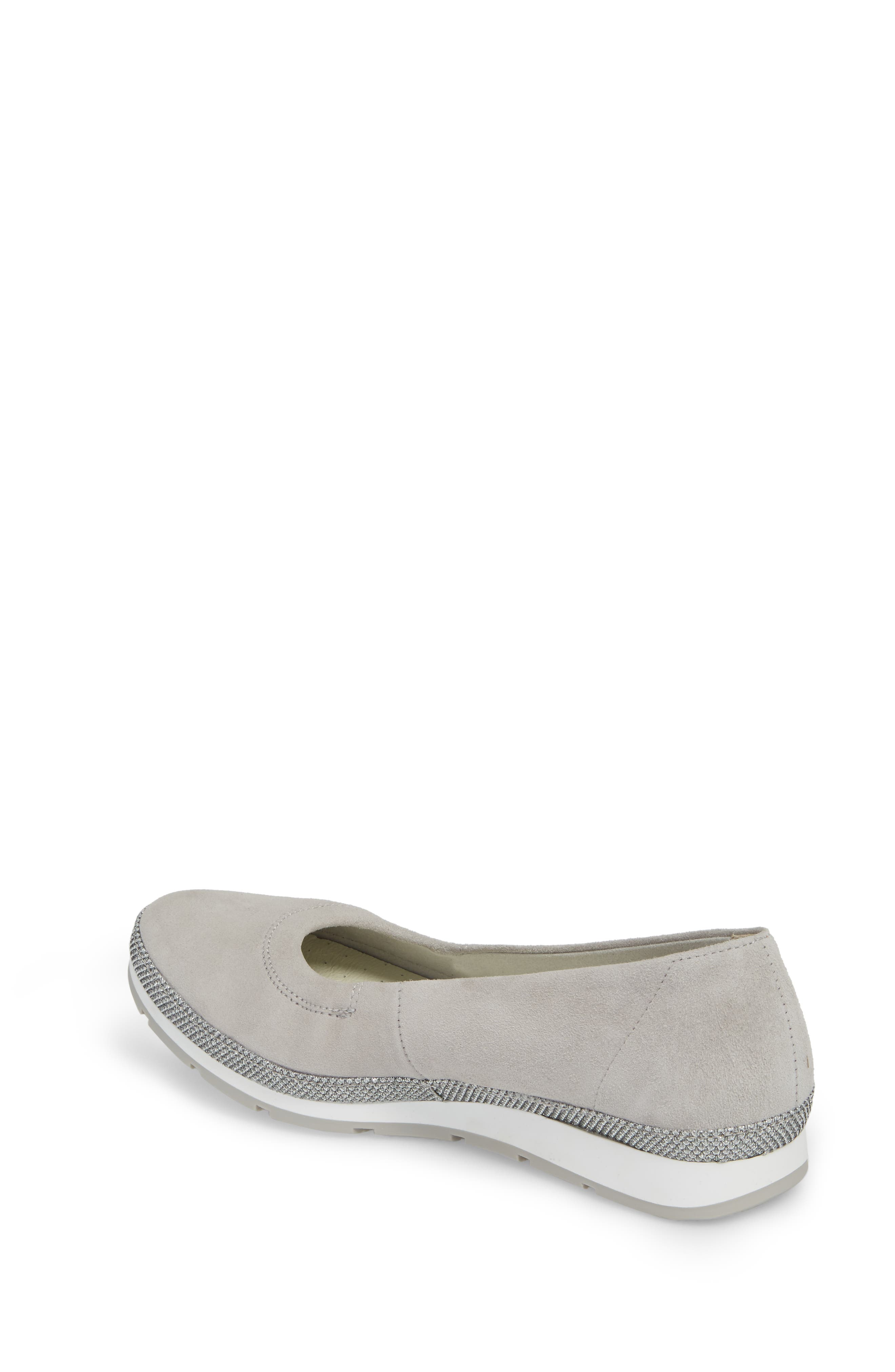 Skimmer Flat,                             Alternate thumbnail 2, color,                             Grey Suede