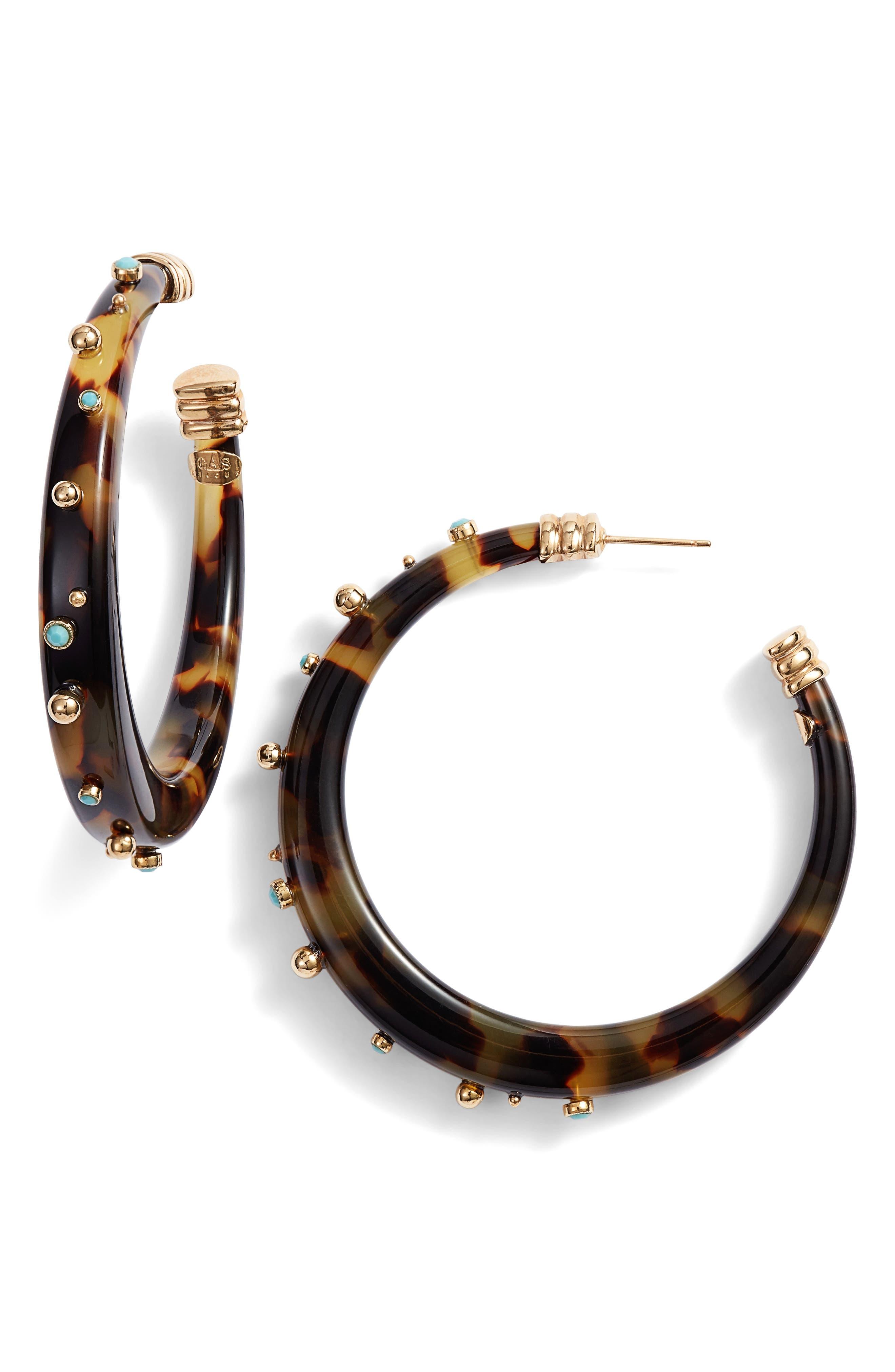 Celeste Hoop Earrings,                         Main,                         color, Gold